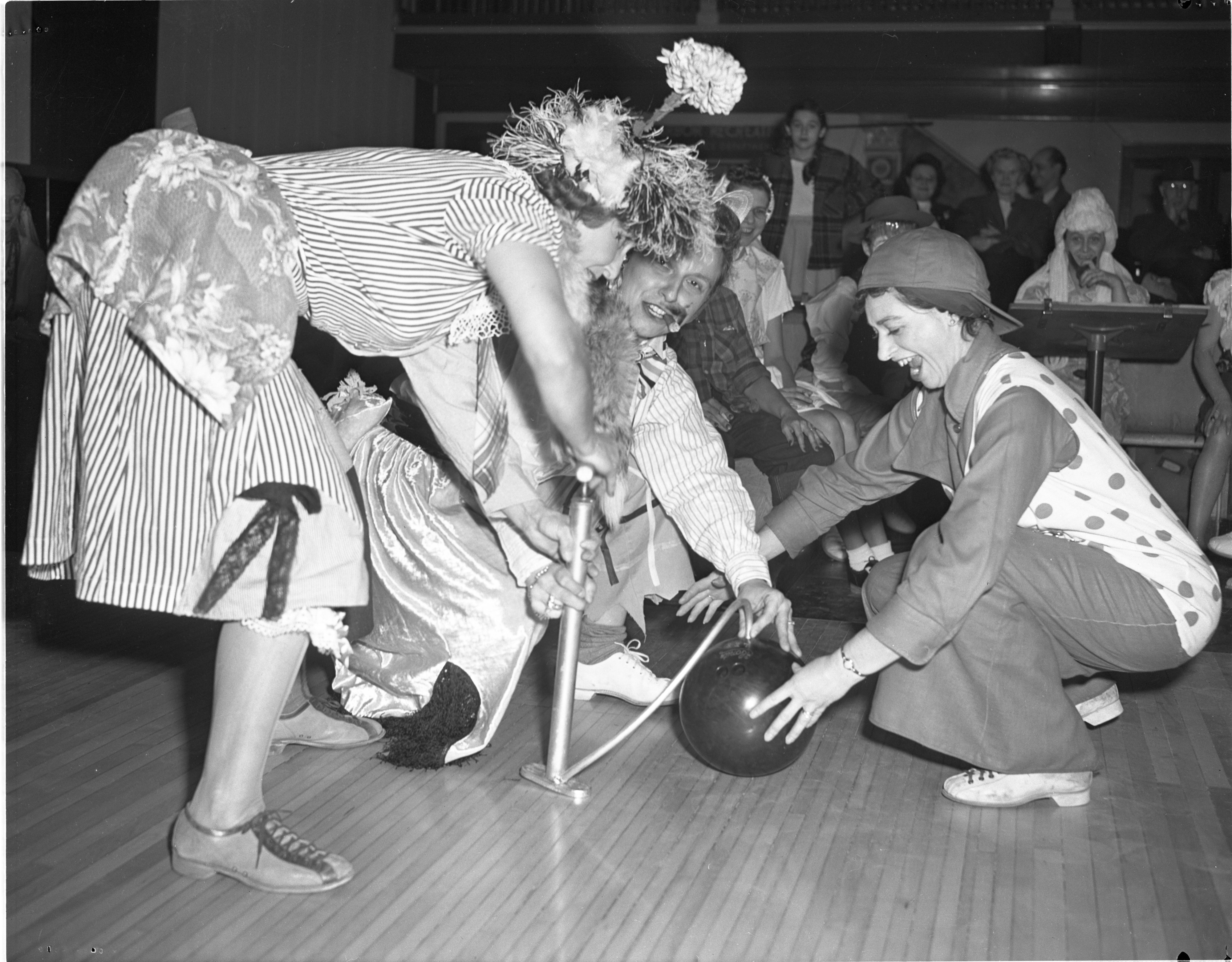Ladies City Bowling League Halloween Costume Party, October 1948 image