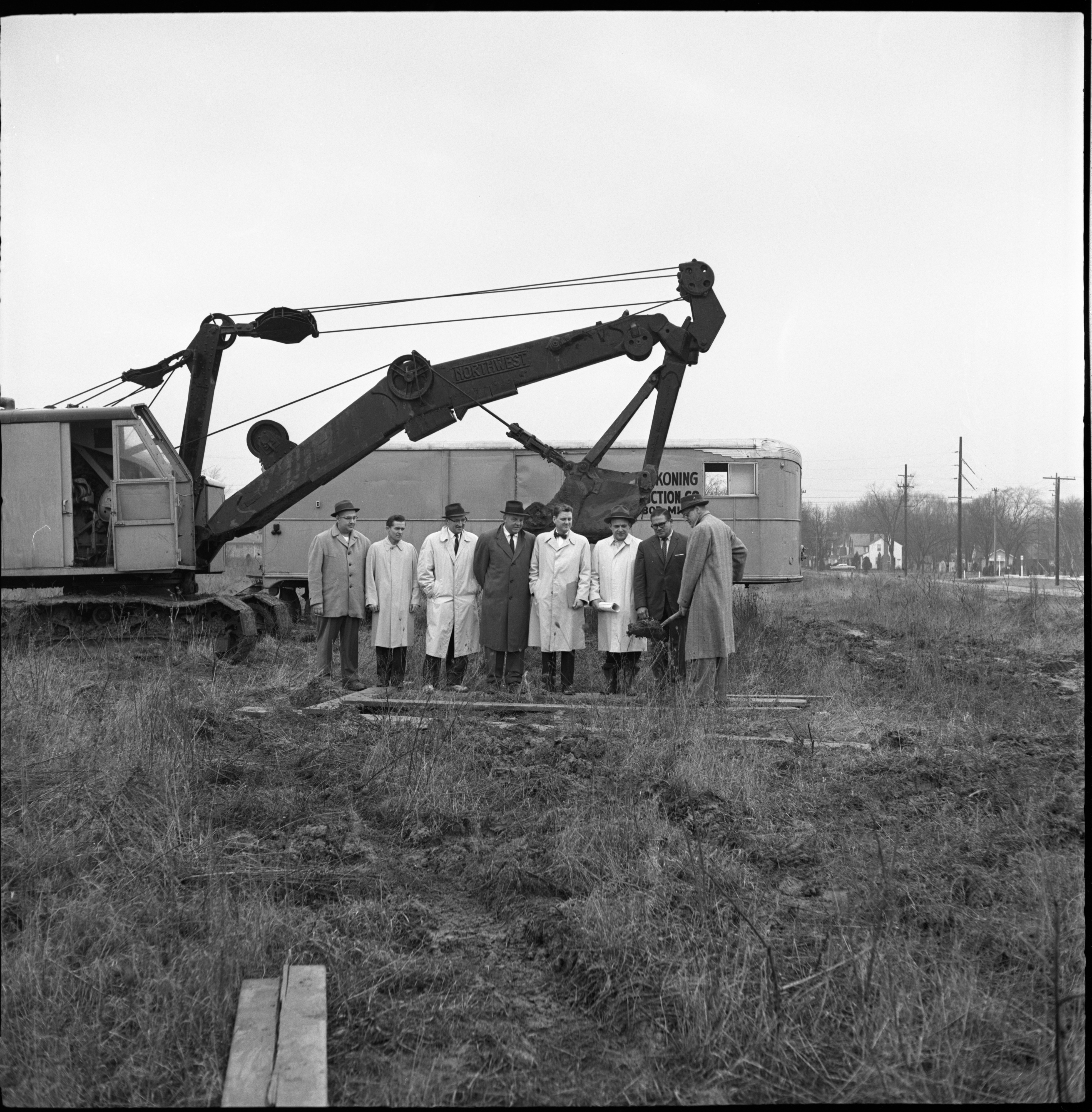 Ground Breaking For Colonial Lanes Bowling Center, March 1960 image