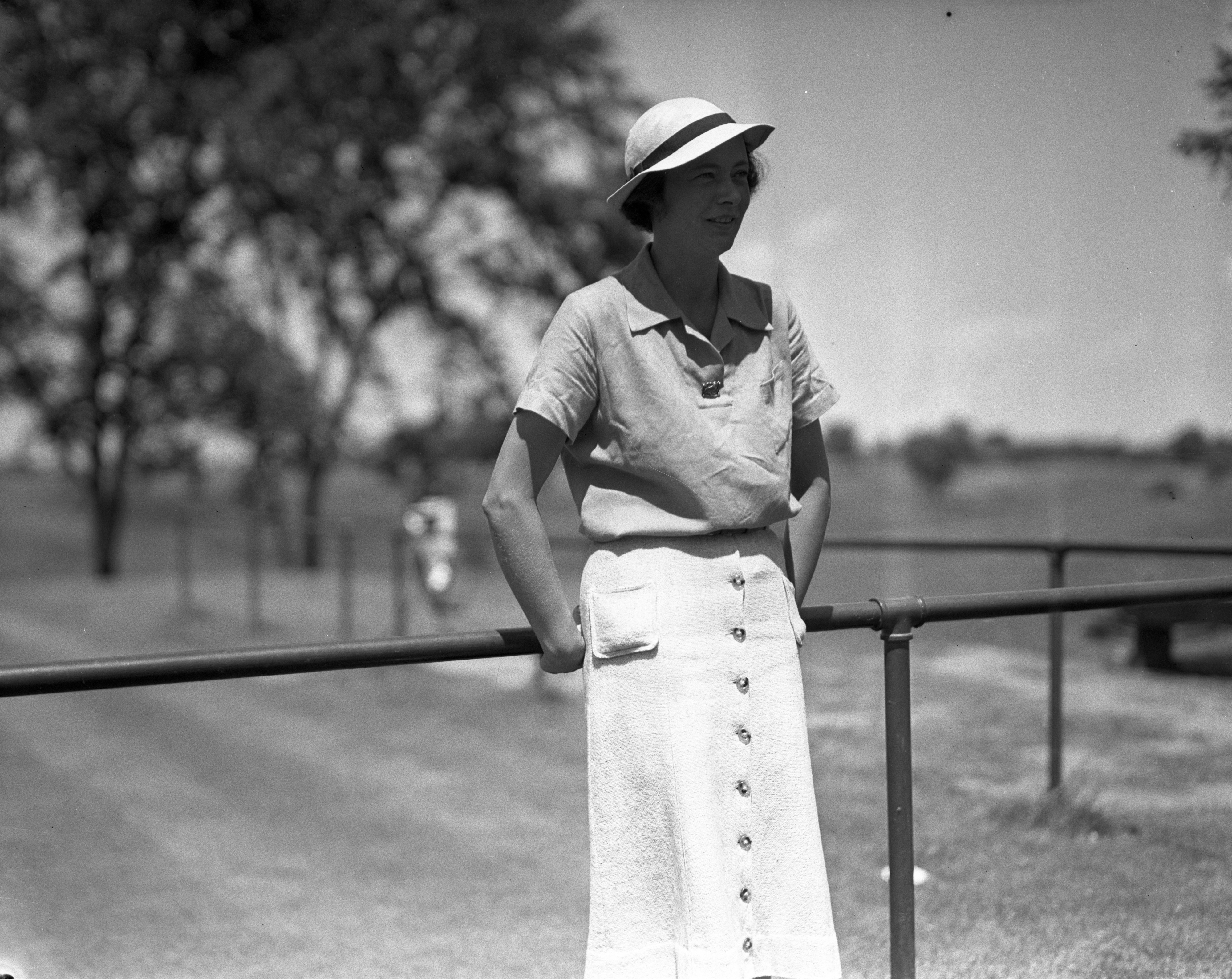 Jean Kyer at Plum Hollow Golf Course, July 1937 image