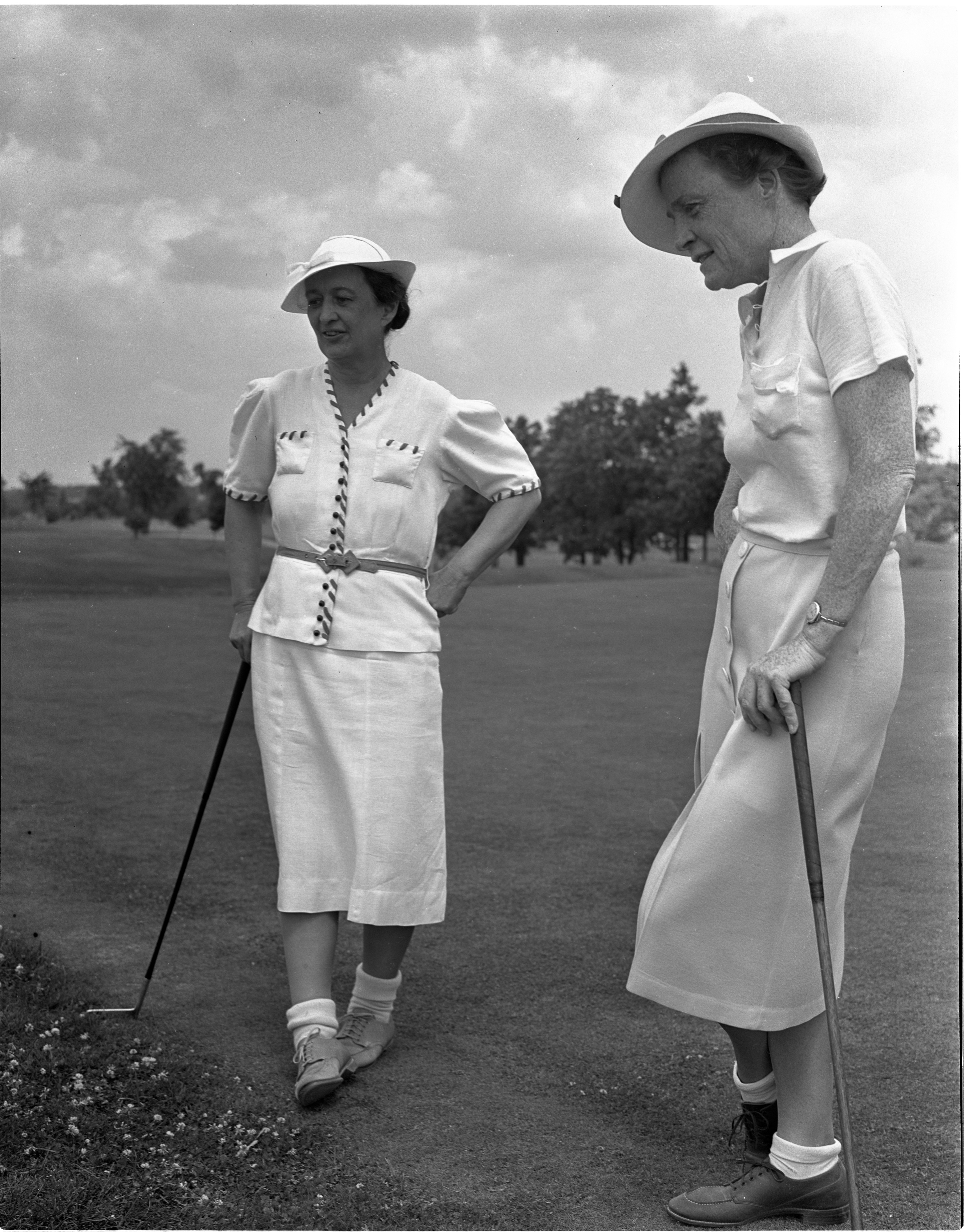 Dr. Margaret Bell In The Women's City Golf Tournament Qualifying Rounds At Barton Hills, July 1939 image