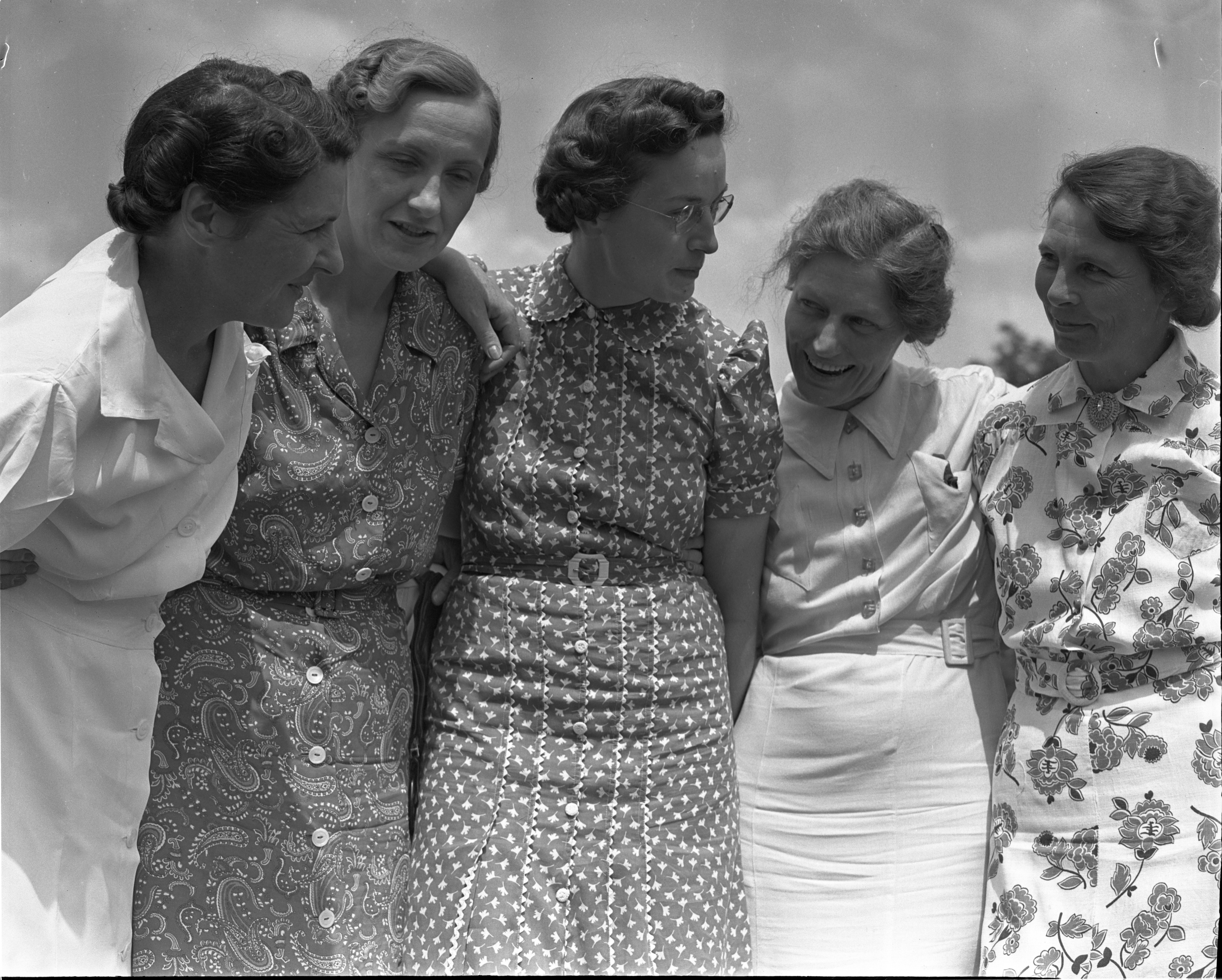 Contestants In The Women's City Golf Tournament Qualifying Rounds At Barton Hills, July 1939 image