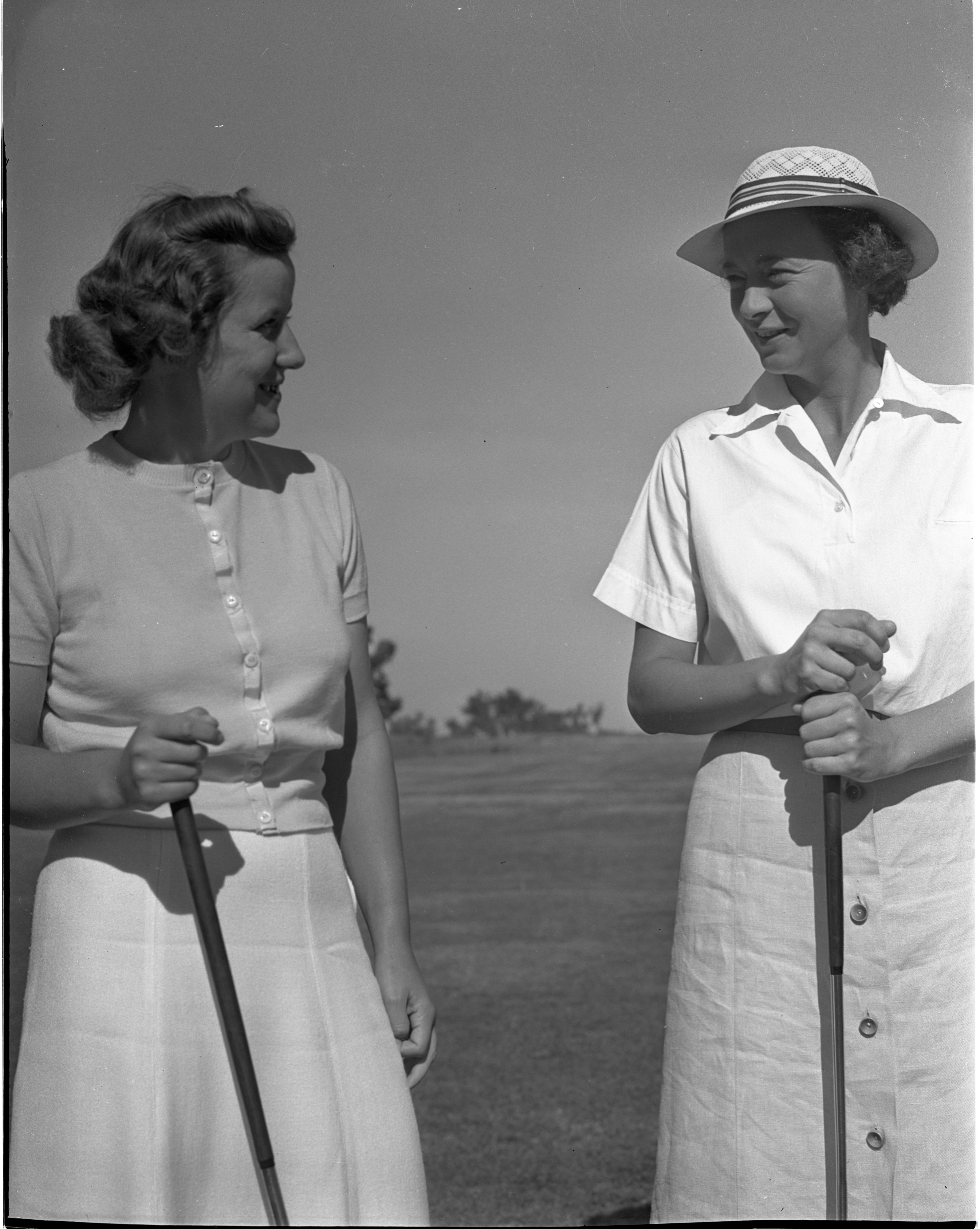 Betty Bonisteel & Jean Kyer At The Barton Hills Club Championship, August 1939 image