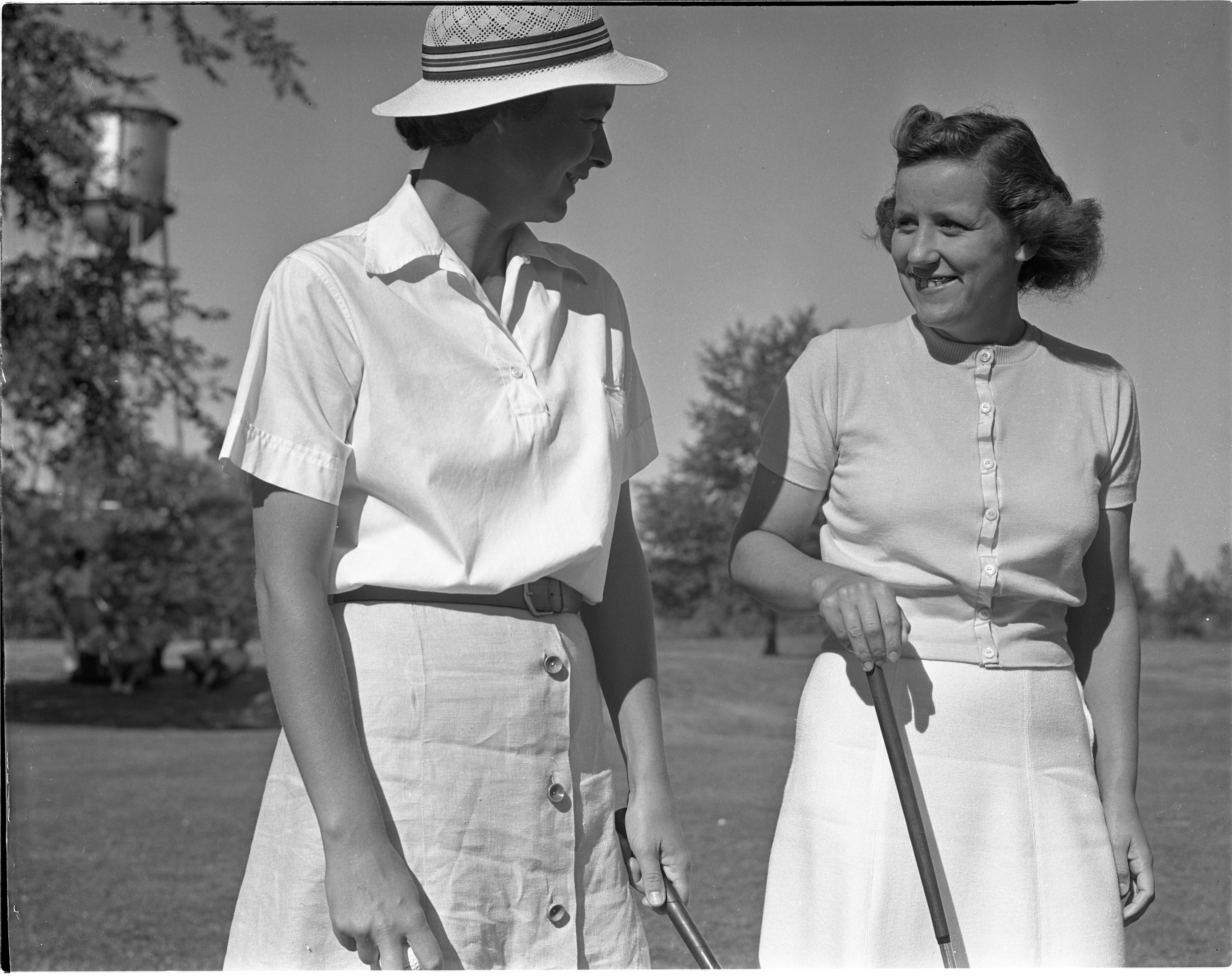 Jean Kyer & Betty Bonisteel At The Barton Hills Club Championship, August 1939 image