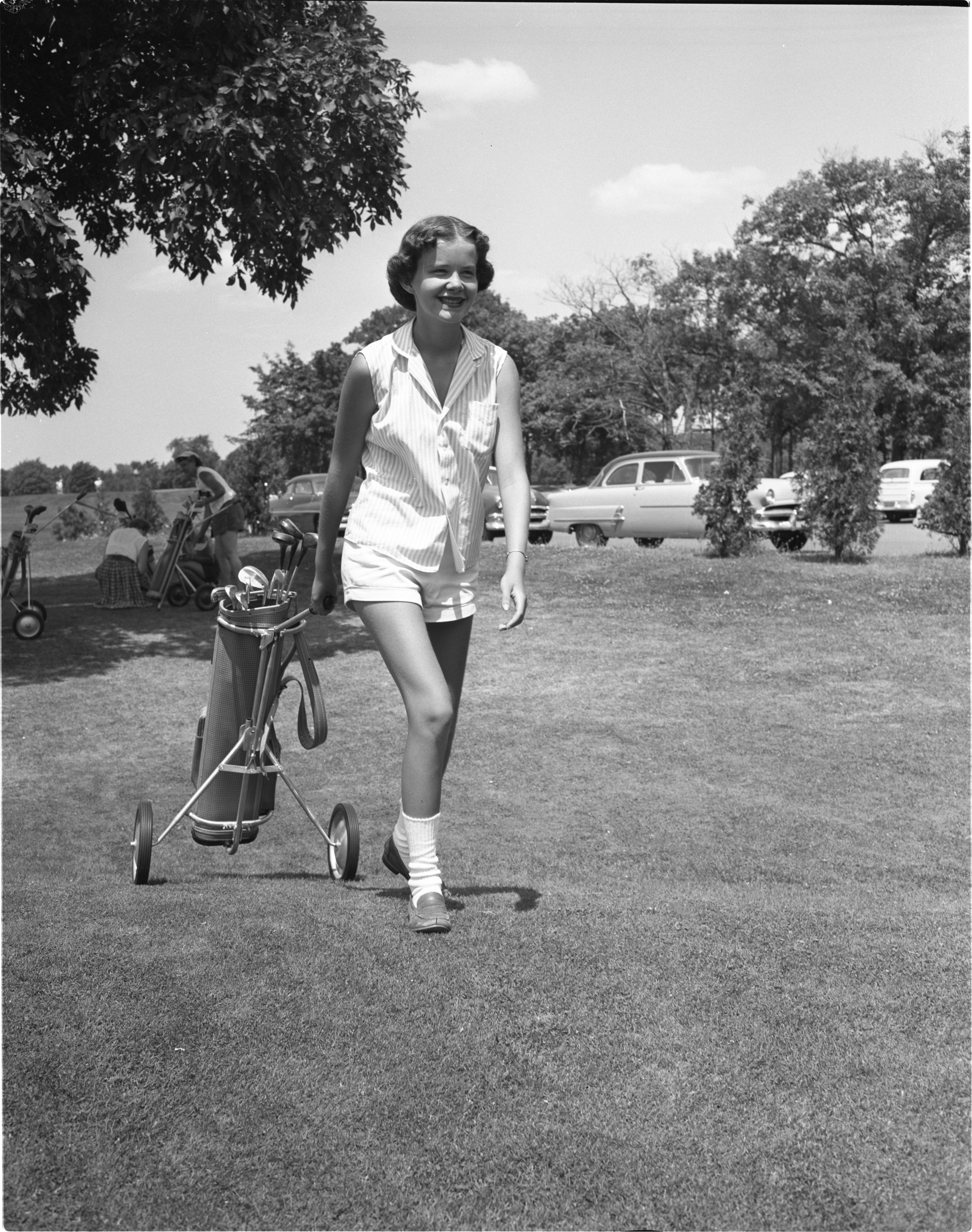 Lee Ann Price At The Women's City Golf Tournament, July 1954 image