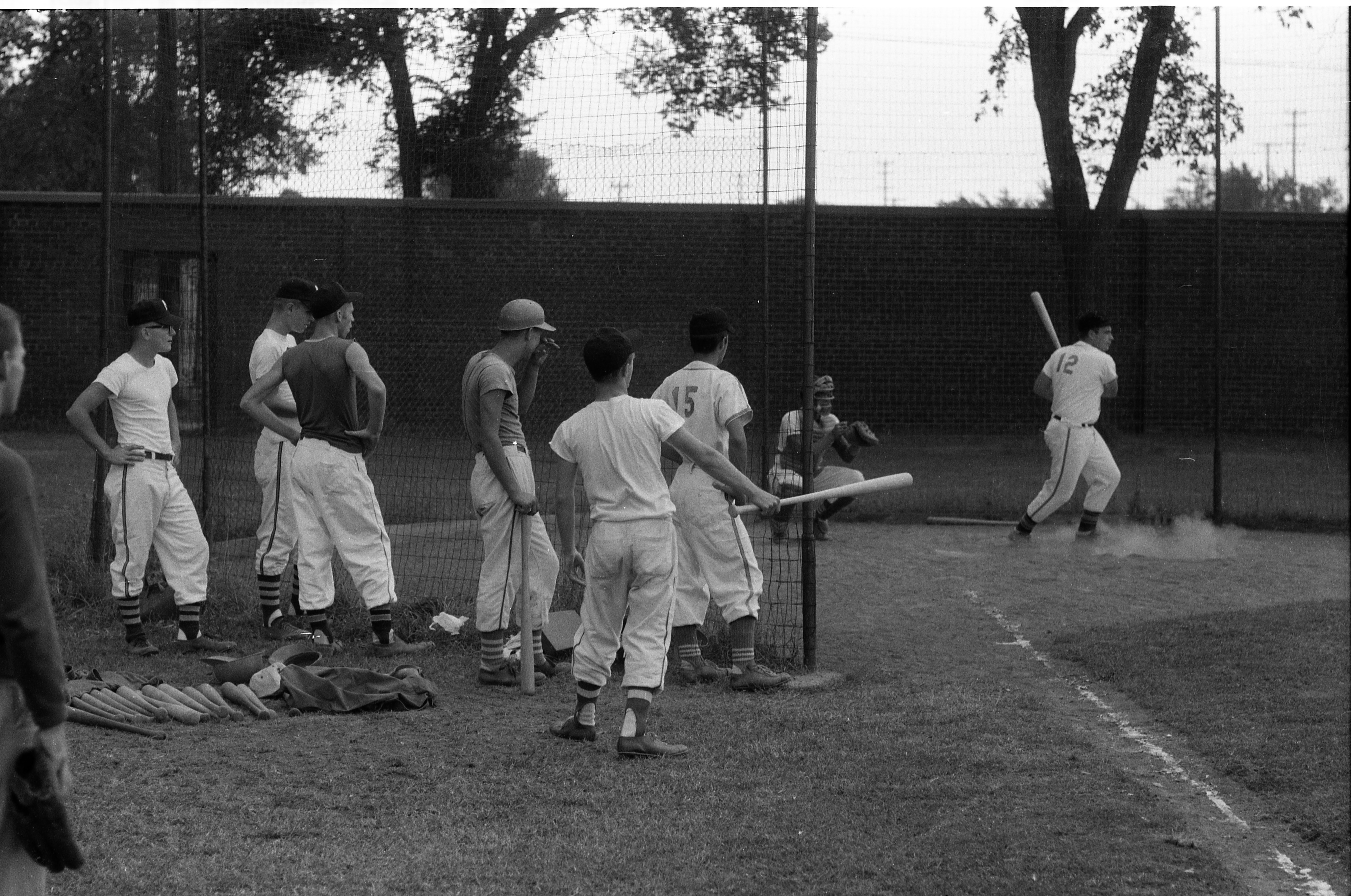 Babe Ruth League World Series Pre-Game Practice At Ferry Field, August 20, 1957 image