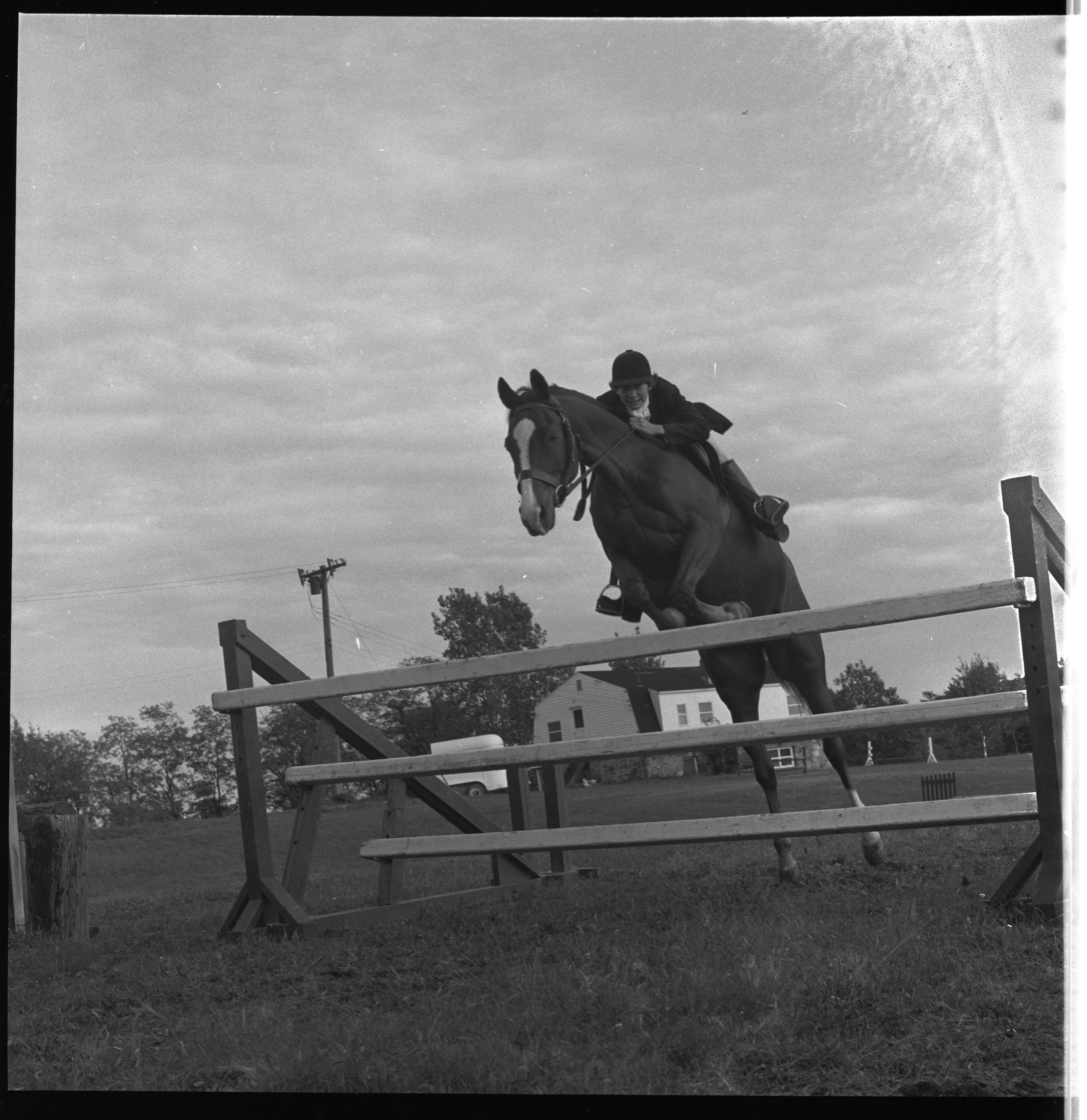 Jane Berkeley & Forward, Everett Riding School - November 1962 image