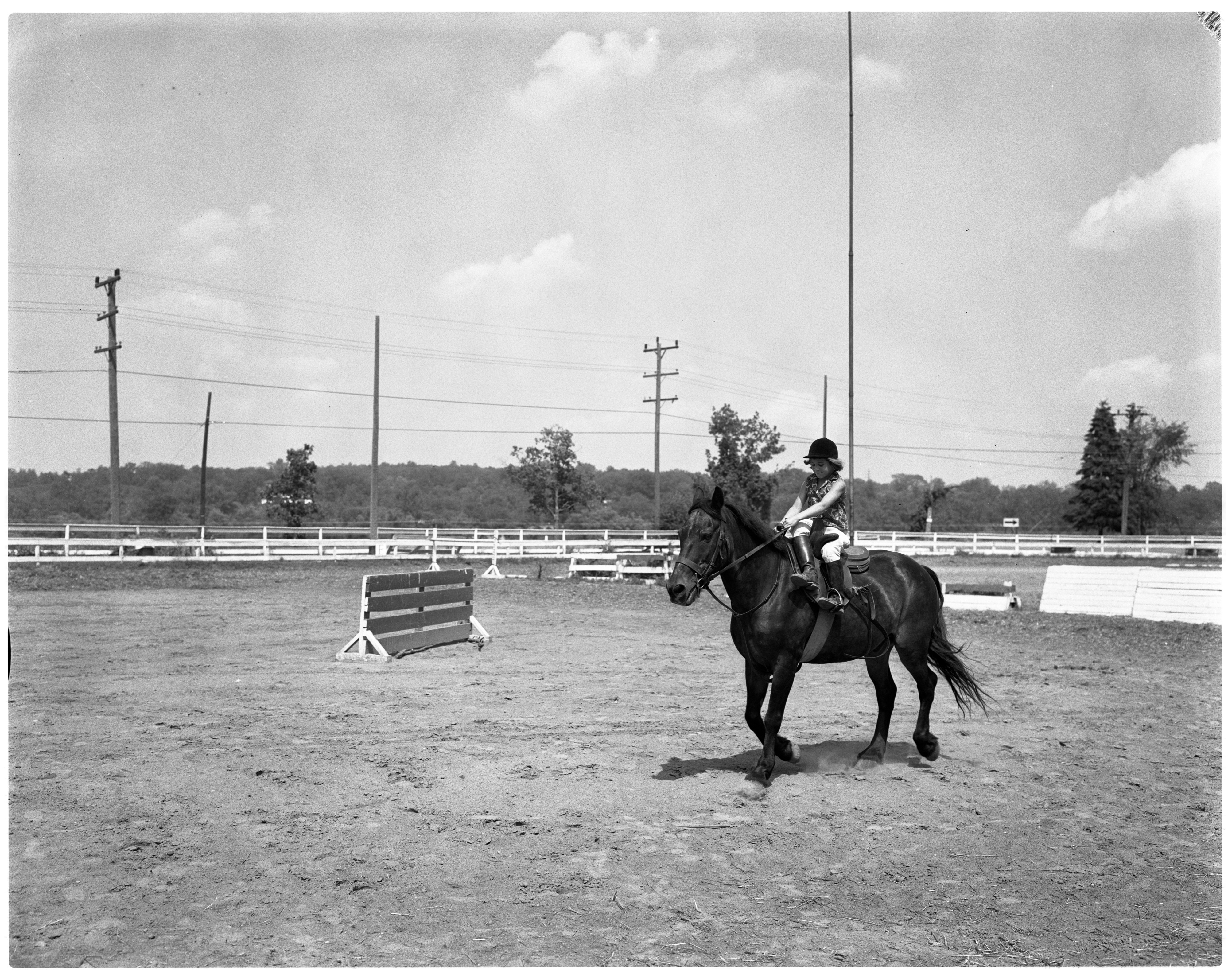 Mary Ann Bonisteel Rides Jake - Huron River Stables, July 1964 image