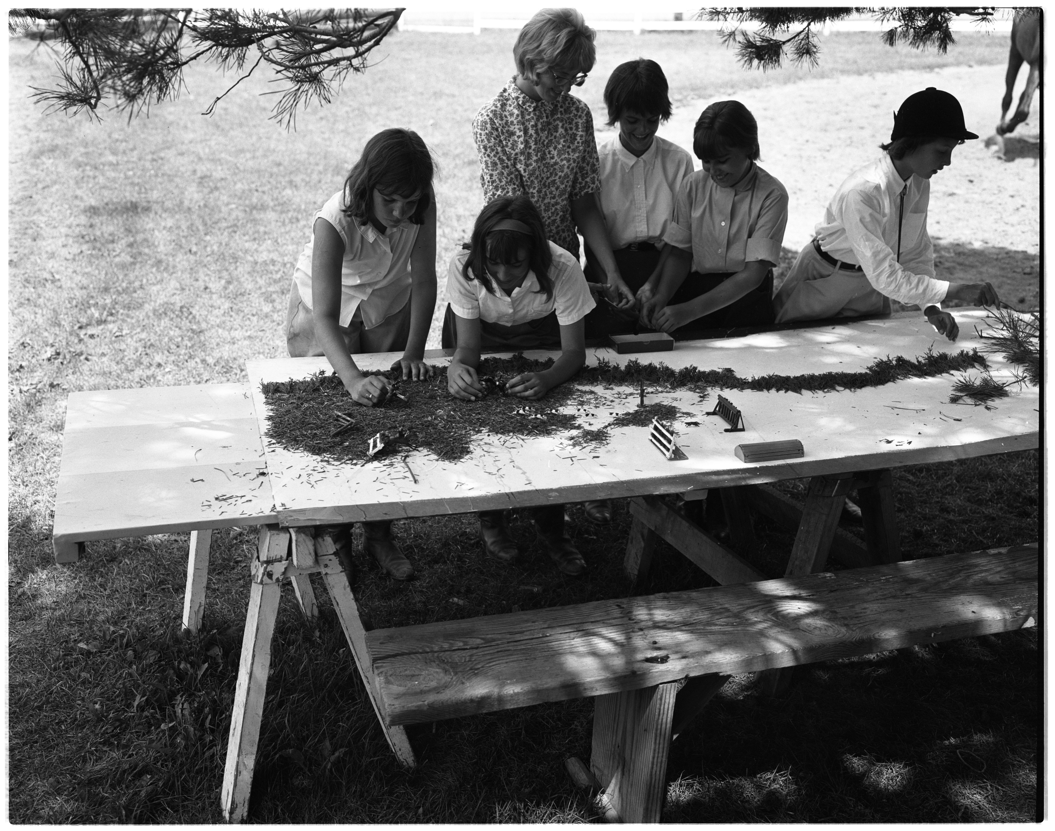 Day Camp Craft Program - Huron River Stables, July 1964 image