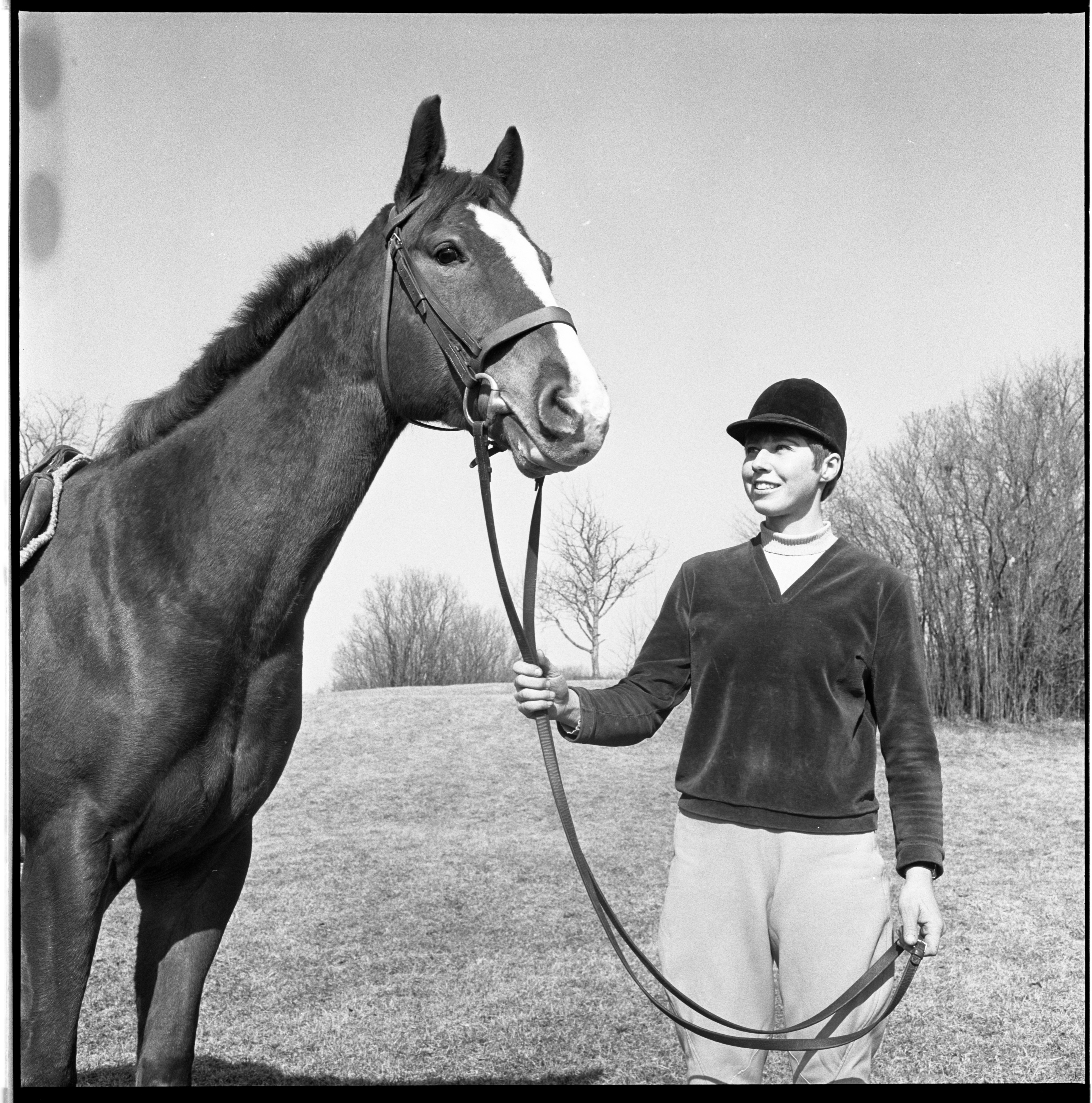 Cindy Carlson and Mr. Muskie - Everett Riding School, March 1969 image