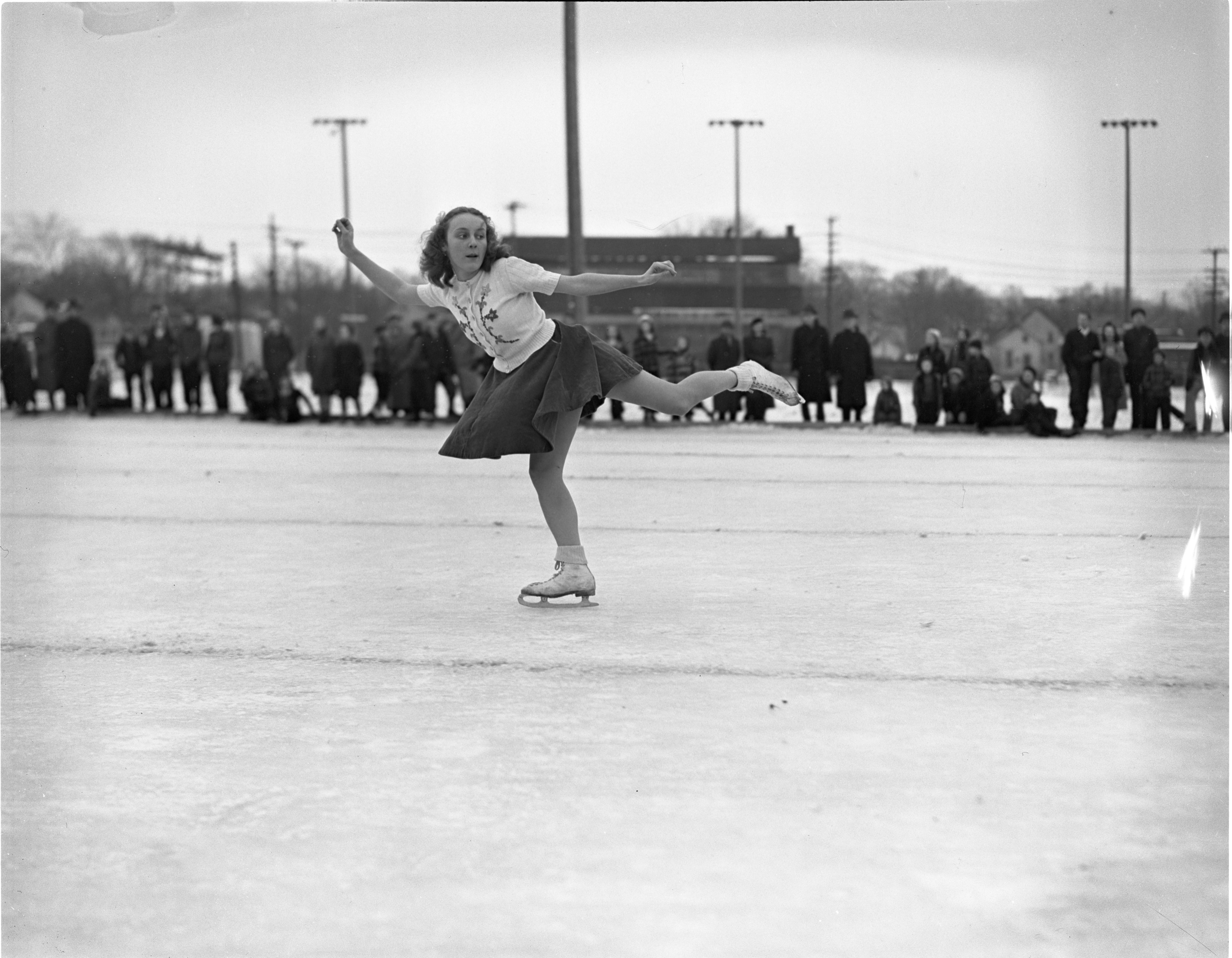 Nancy Upson Competes At The City Skating Carnival, January 1939 image