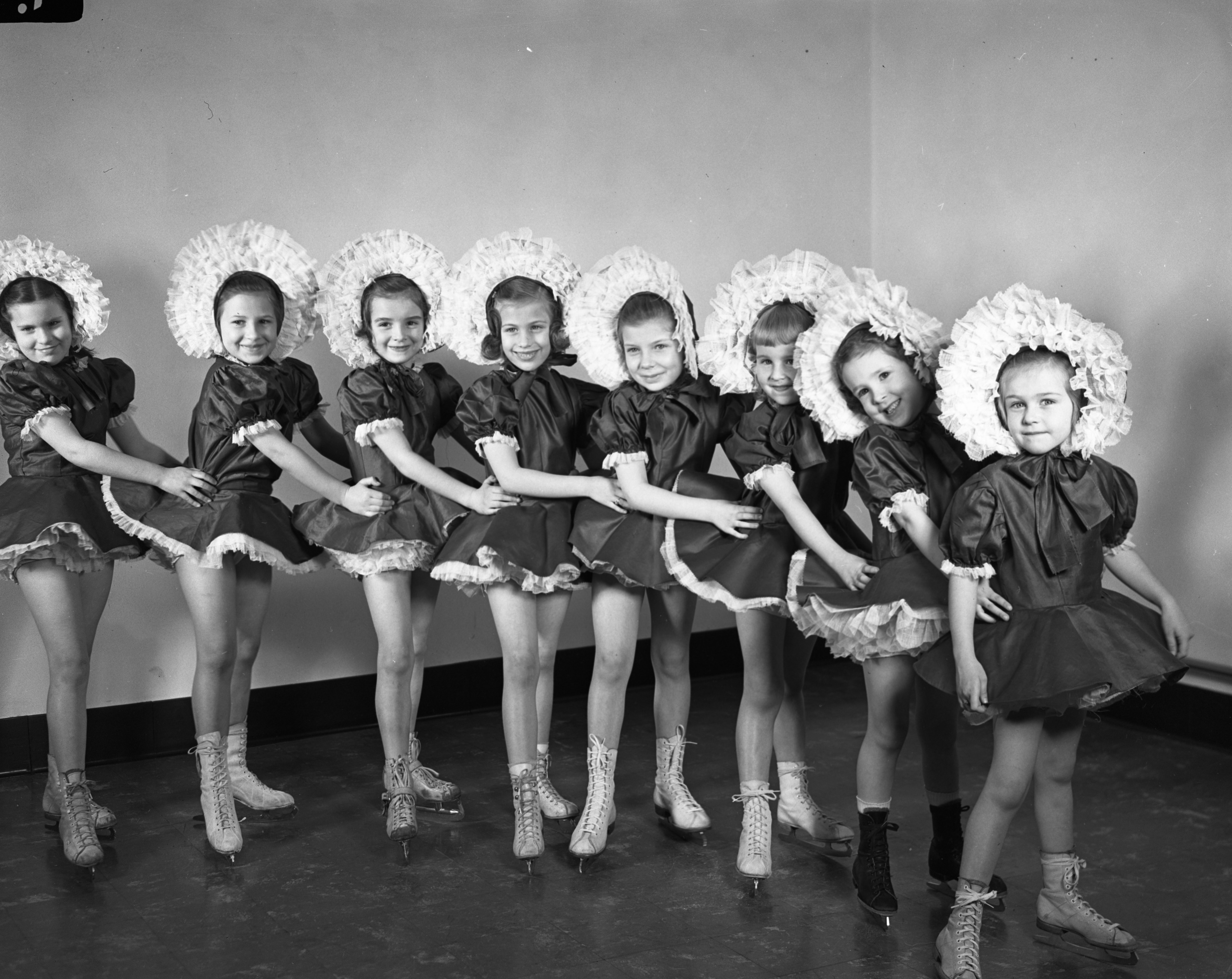 """Pony Line"" at the Ann Arbor Skating Club, March 1948 image"