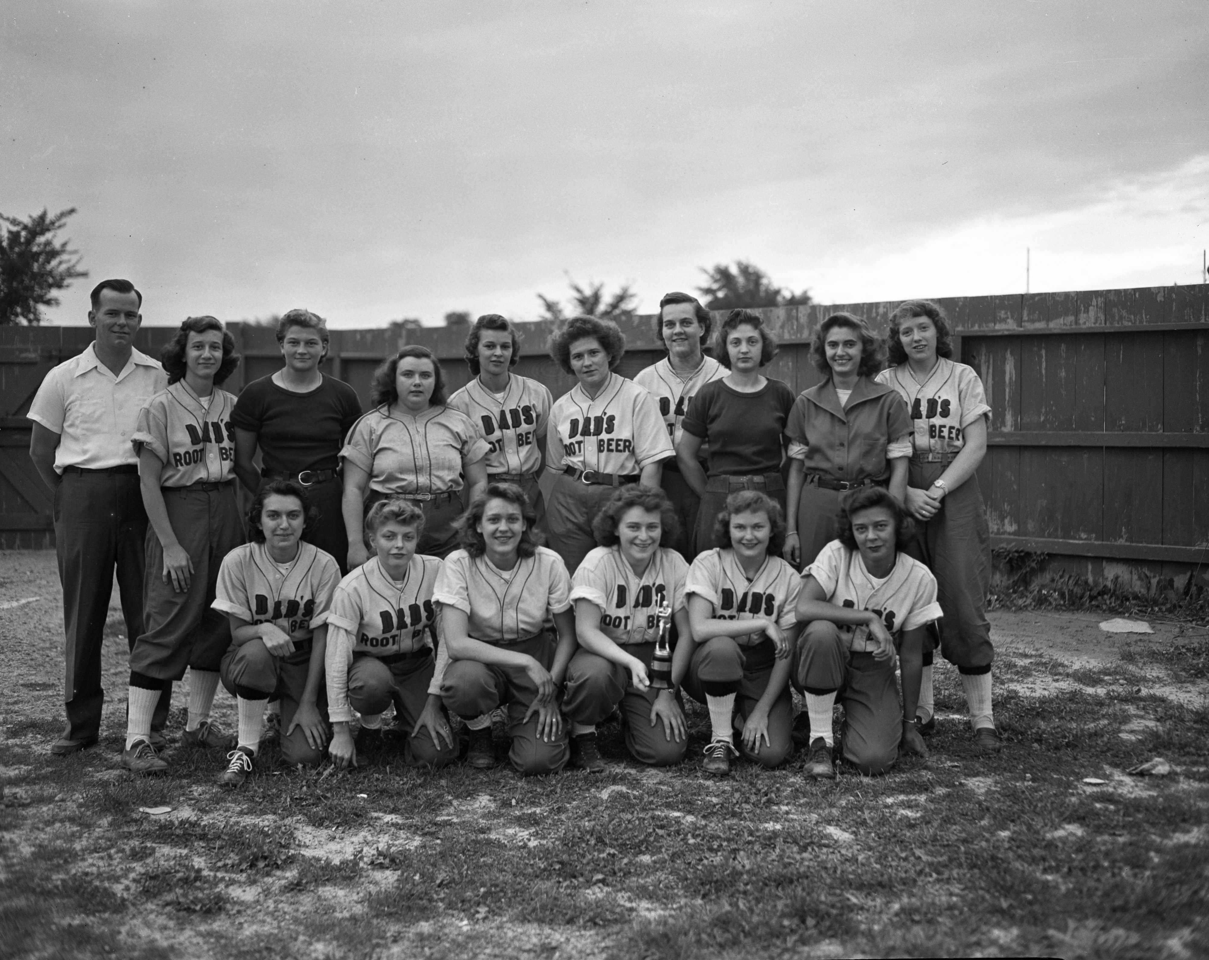 Dad's Root Beer girls team of Ann Arbor, Class A State Champs, September 1947 image