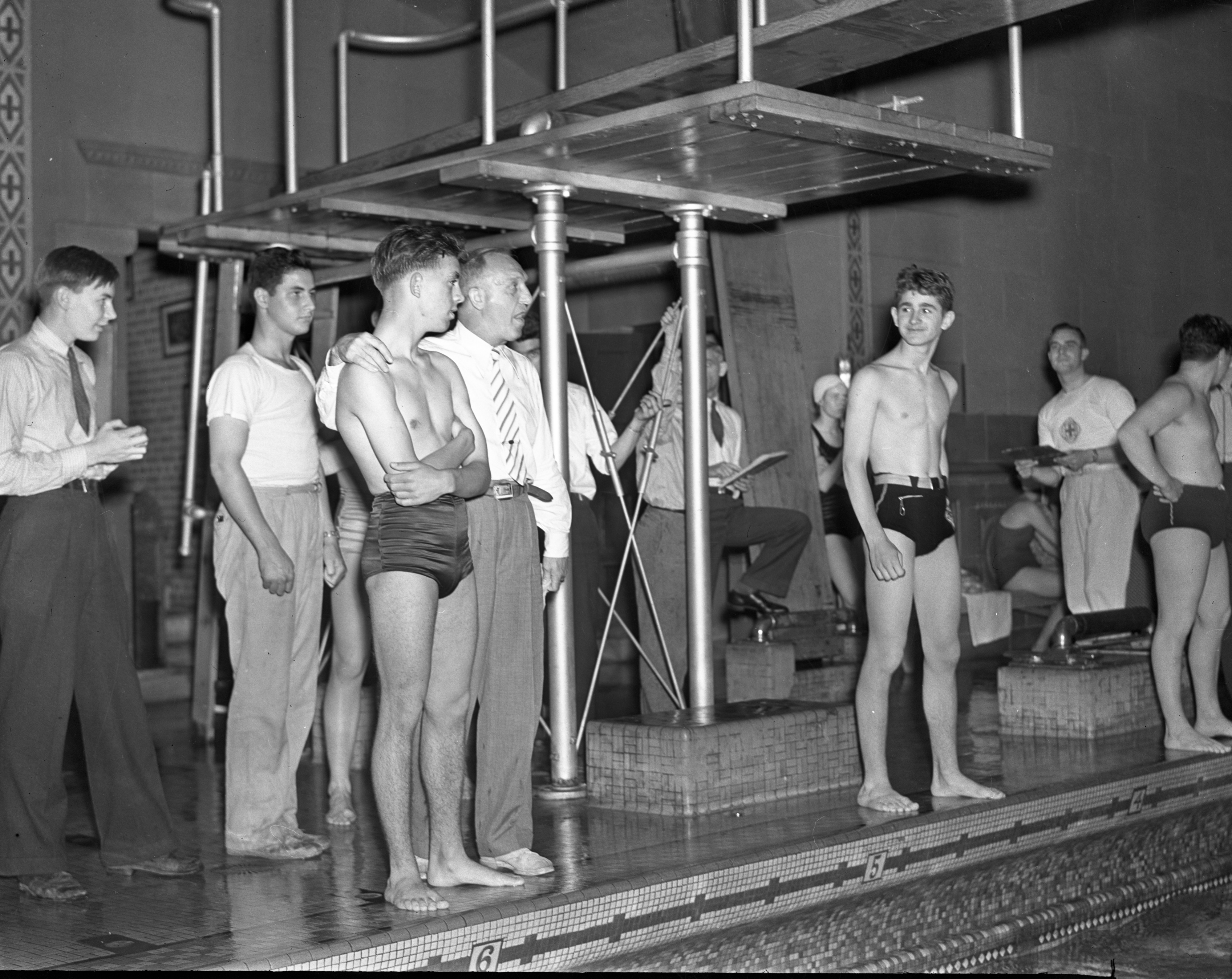 All City Swim Meet at the Intramural Pool, May 1938 image