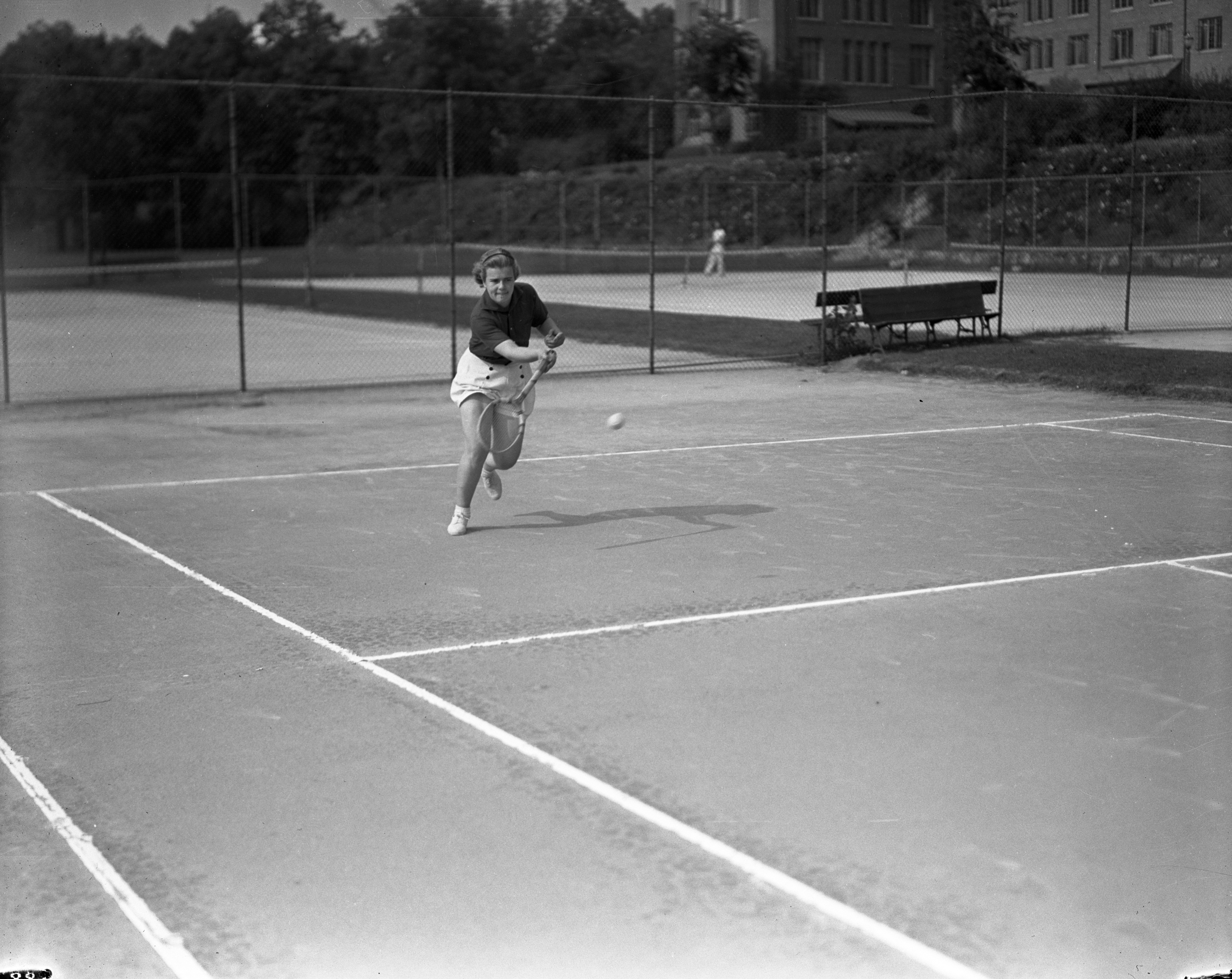 Women's Junior Tennis: Sanders & Ford, 1937 image
