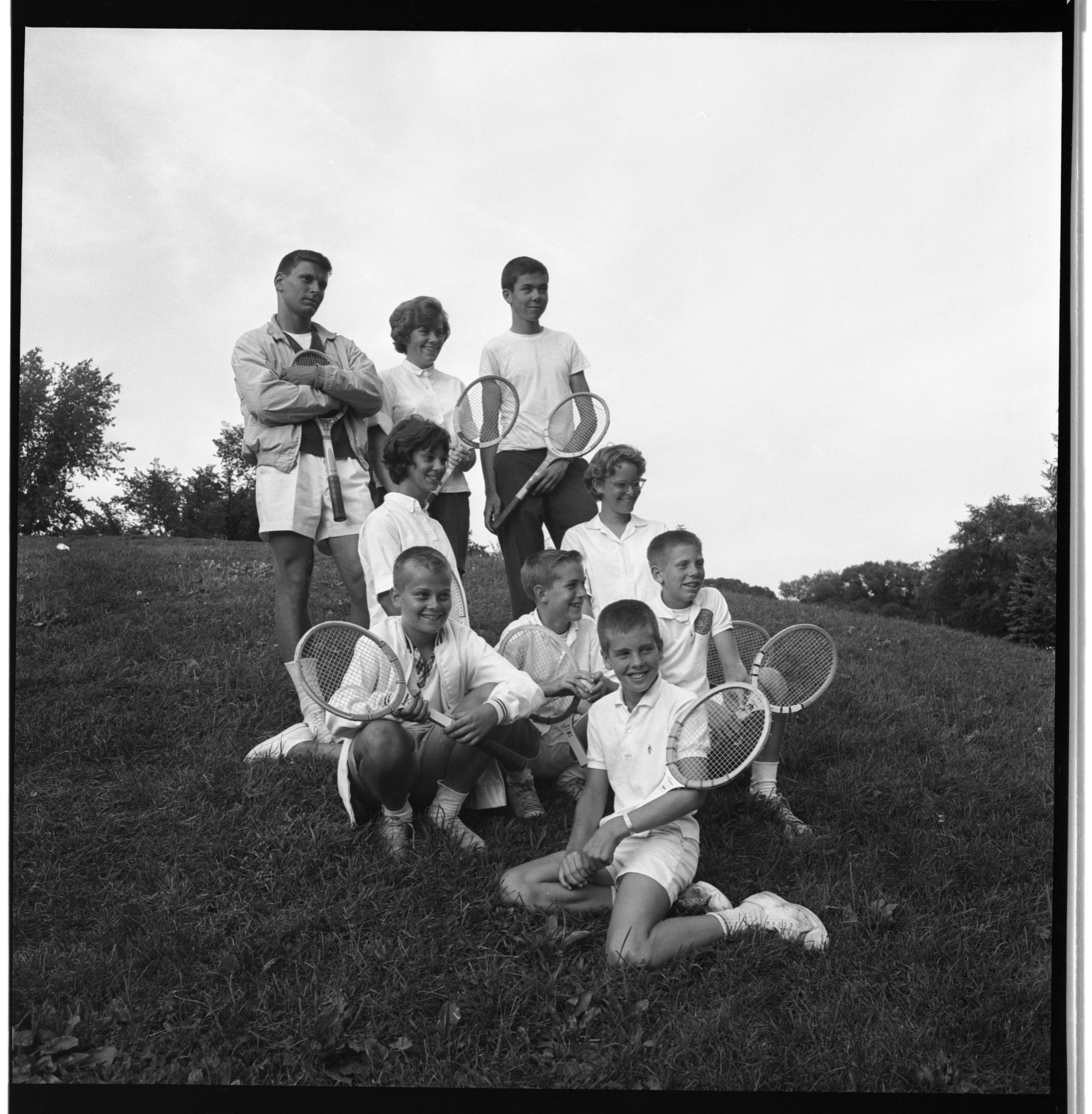 Ann Arbor Junior Tennis Tournament Champions, August 1962 image