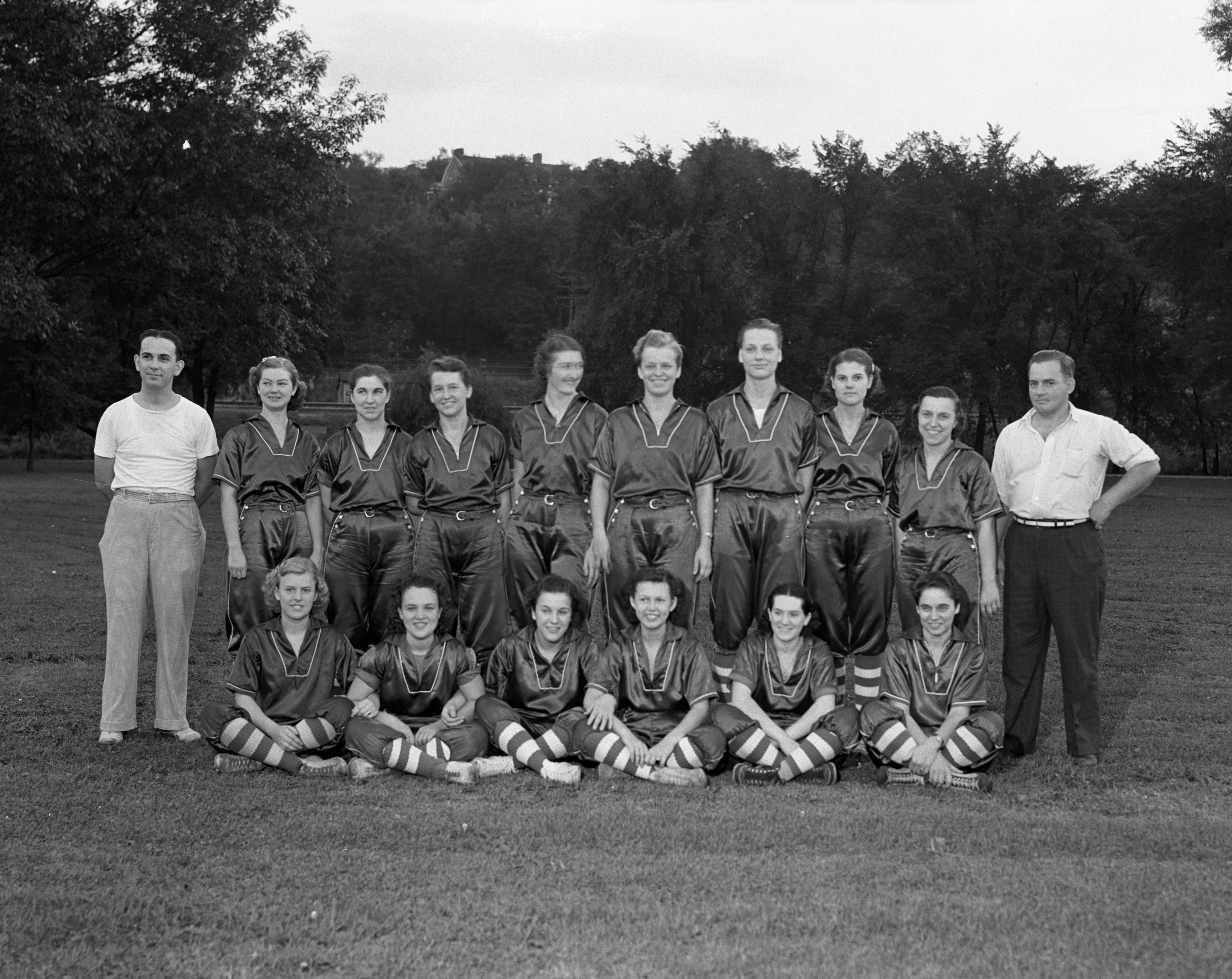 Edwards Brothers Girls' City Softball Champions, 1937 image