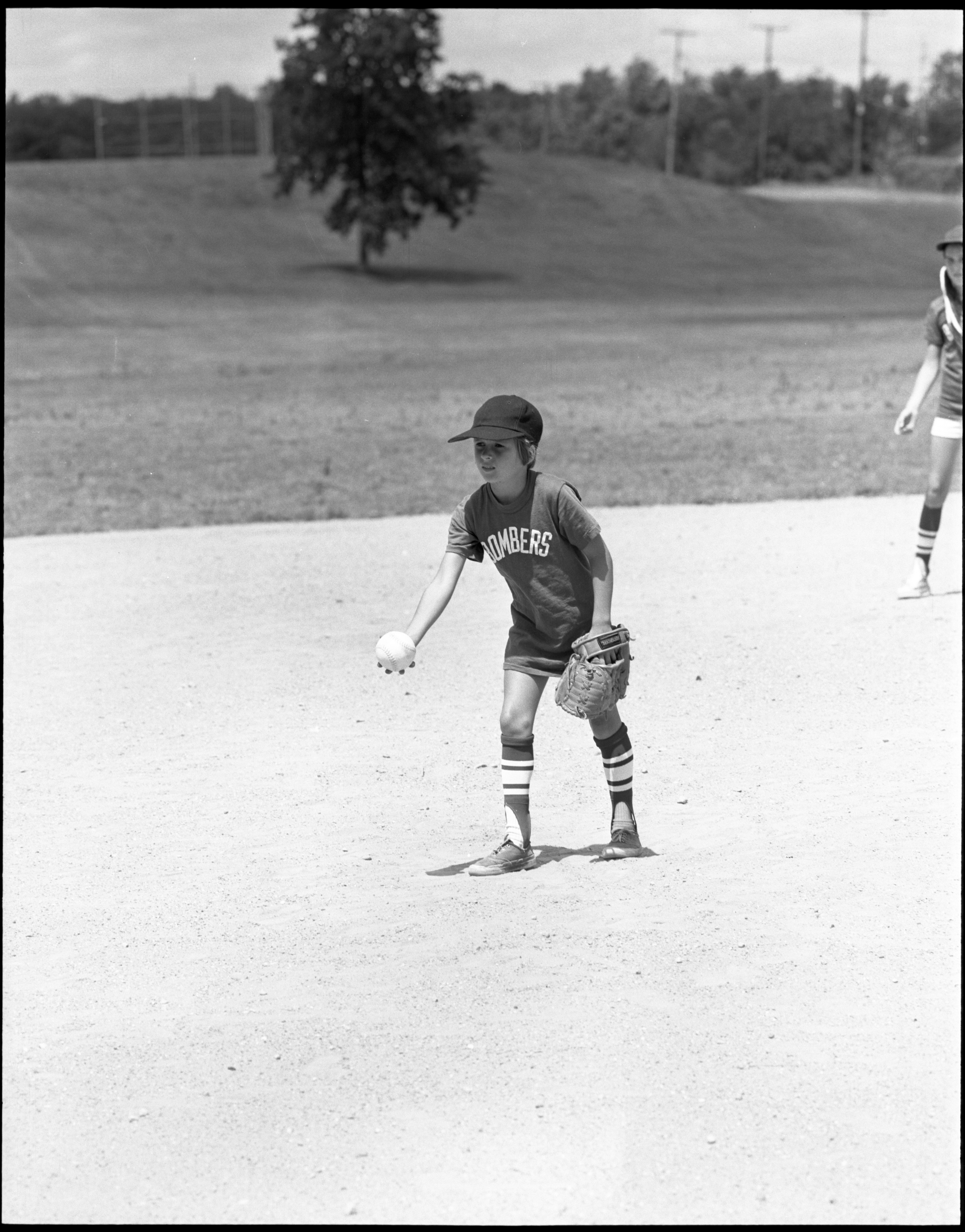 Girls Softball - Sloane Staples On The Pitcher's Mound, July 1972 image
