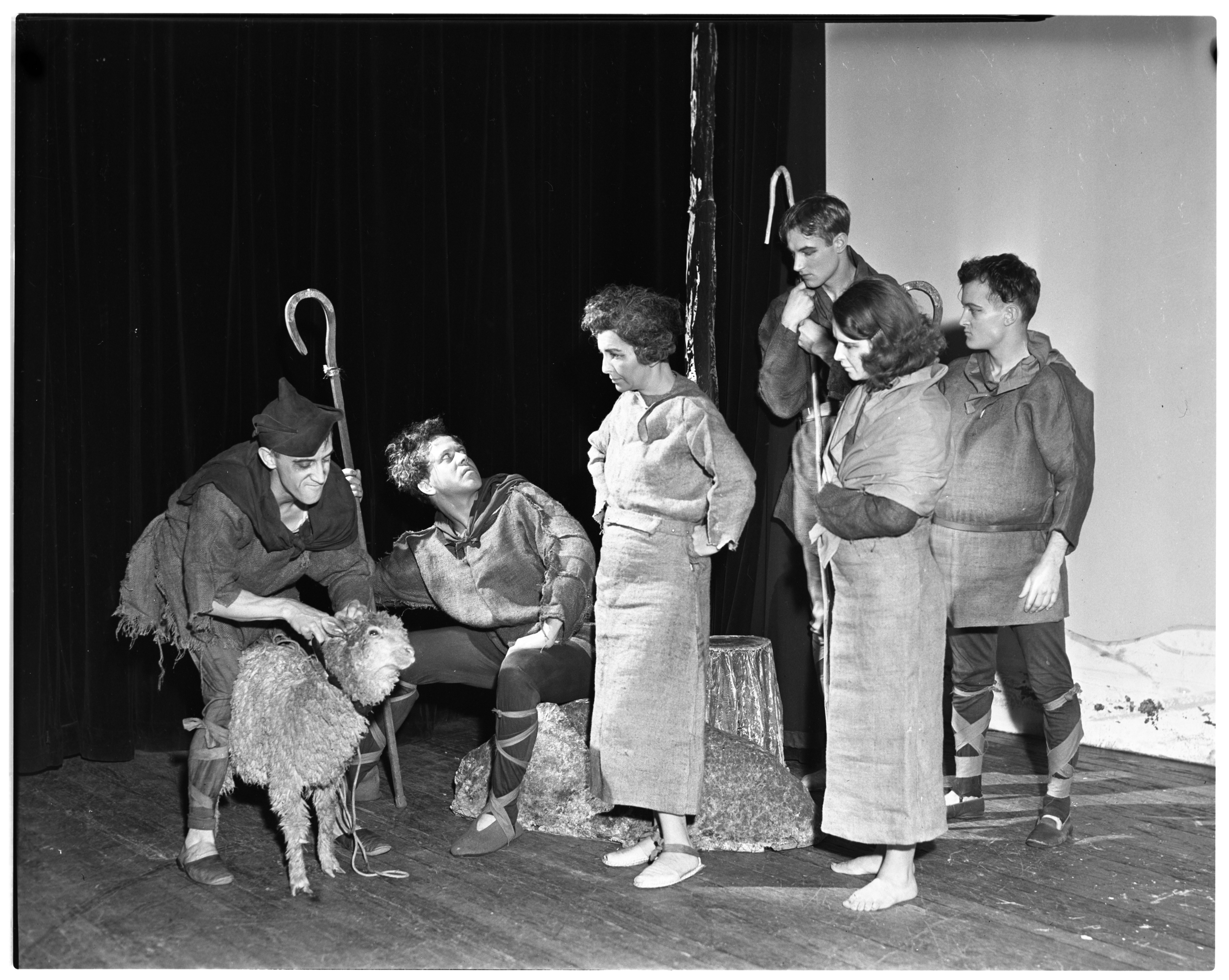"Hampstead Players Perform ""Towneley Second Shepherds Play,"" December 1936 image"
