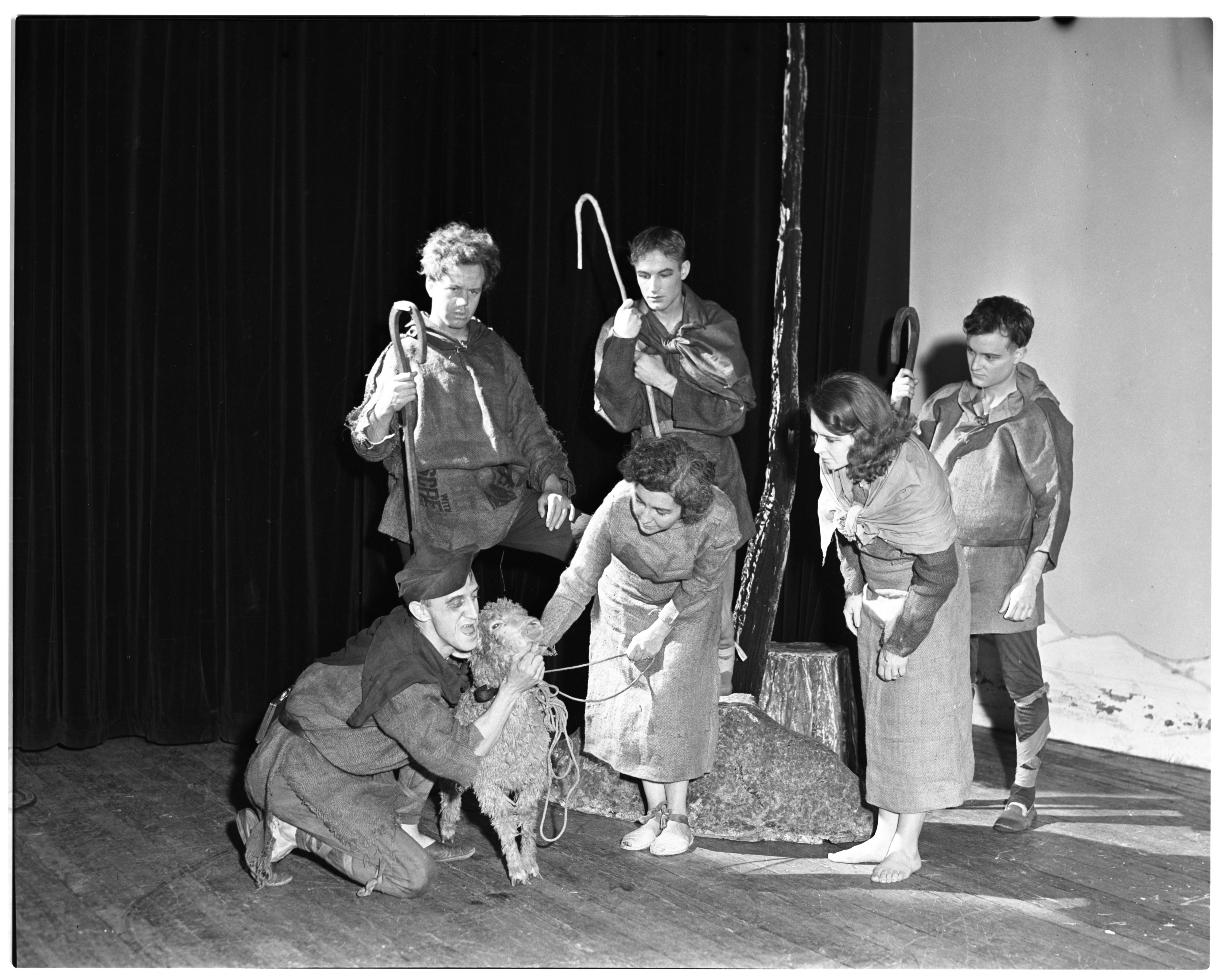 "Hampstead Players Perform ""Towneley Second Shepherds' Play,"" December 1936 image"