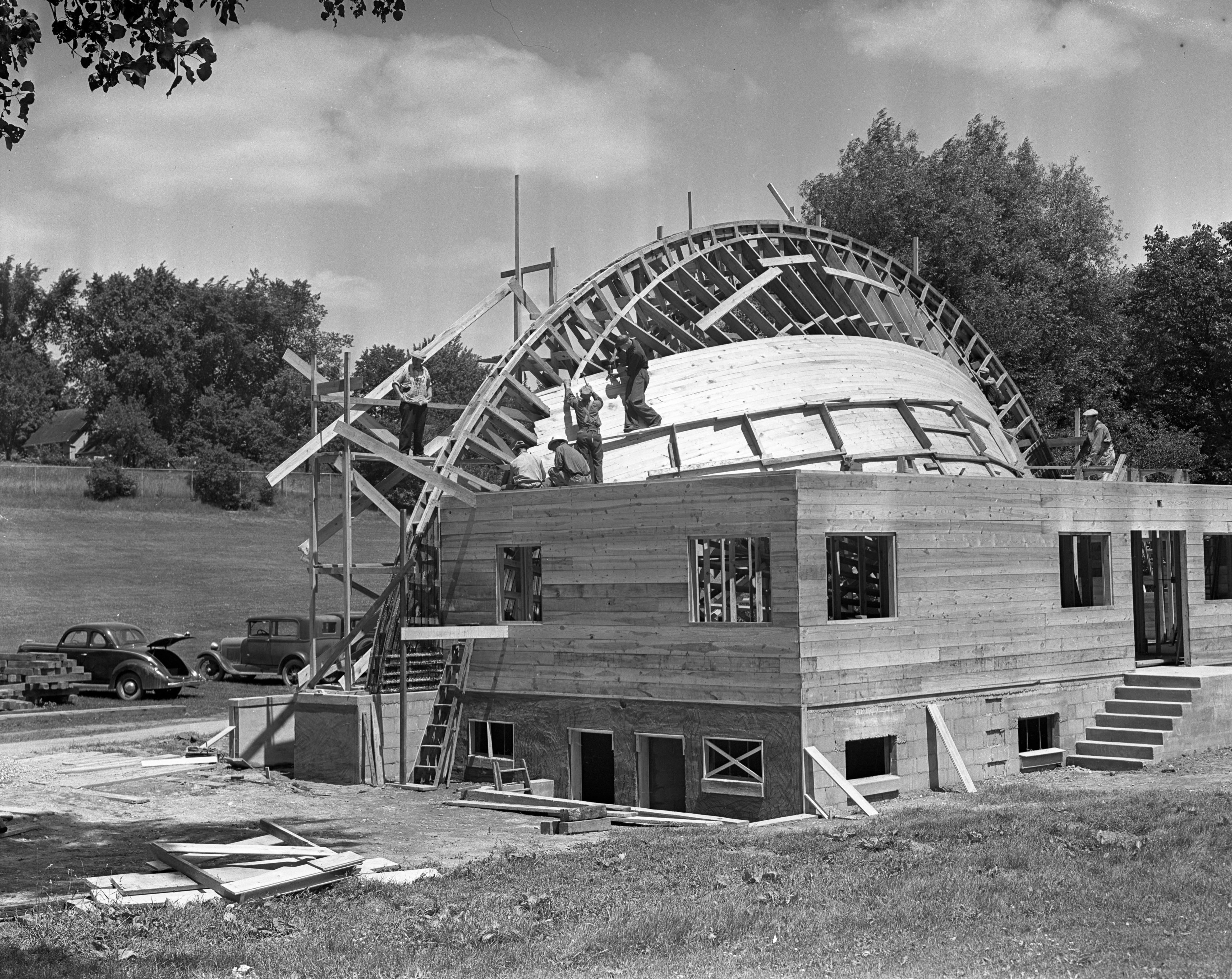 West Park Orchestra Shell nearing completion, June 1938 image