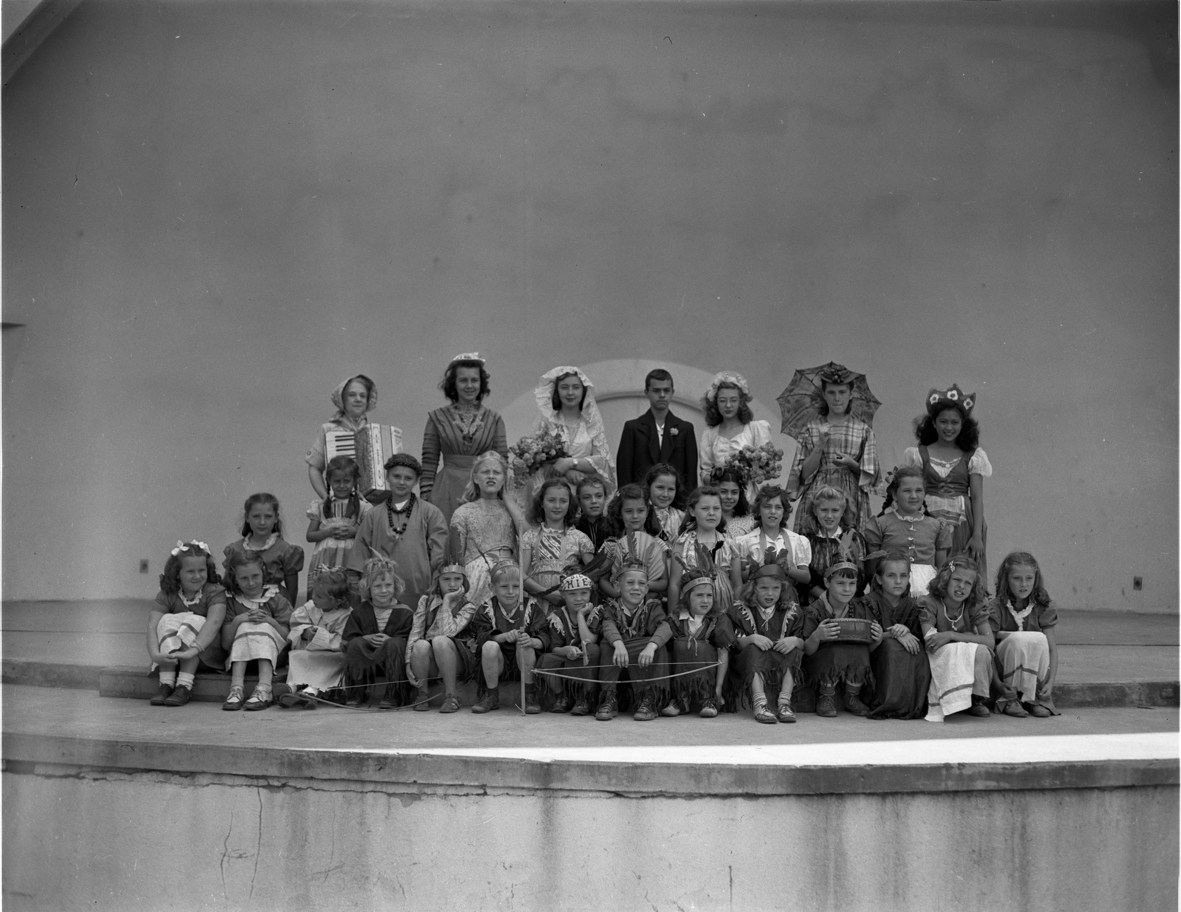 Cast Of Historical Pageant Presented In West Park, July 1947 image