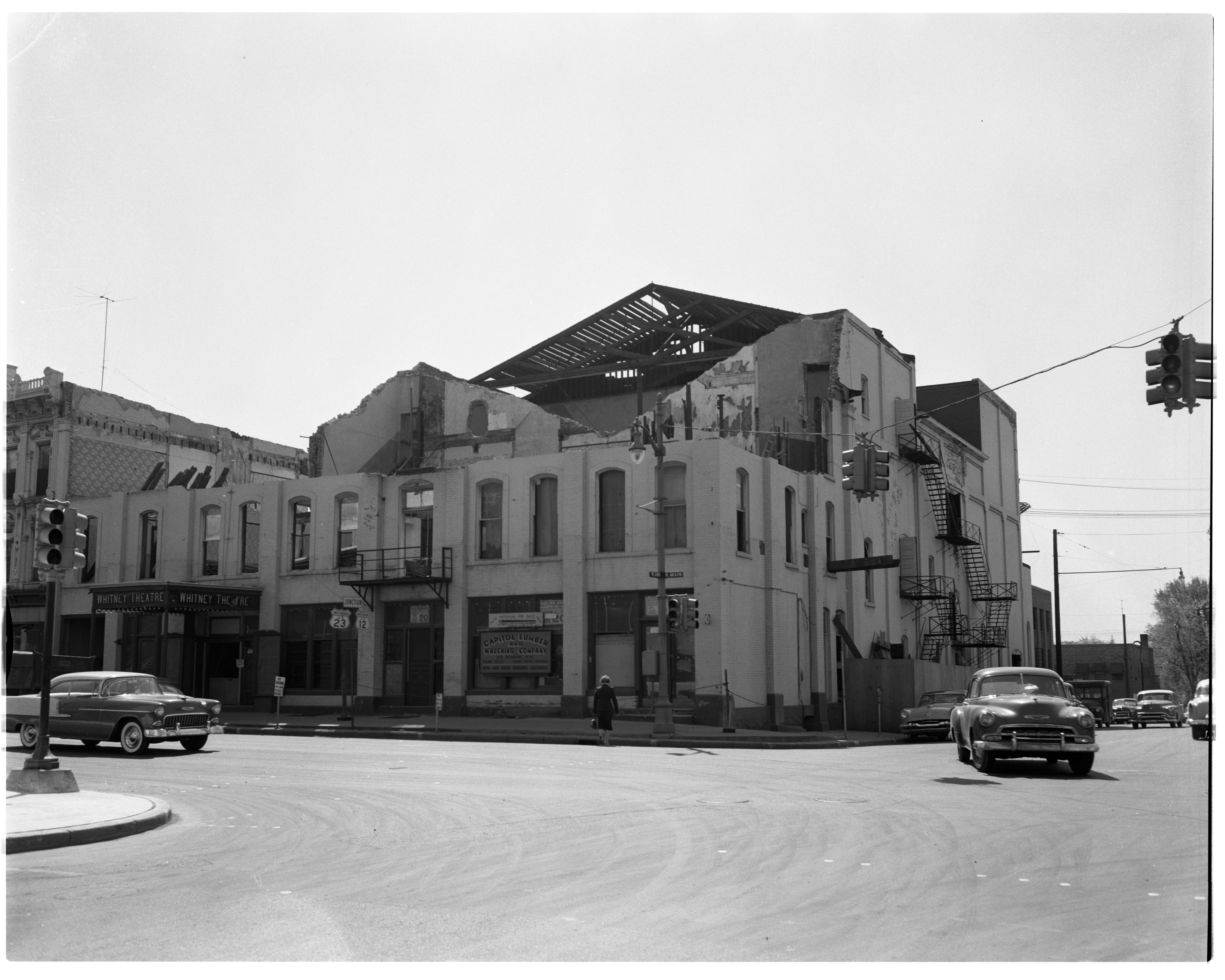 Whitney Theater being torn down, May 1955 image