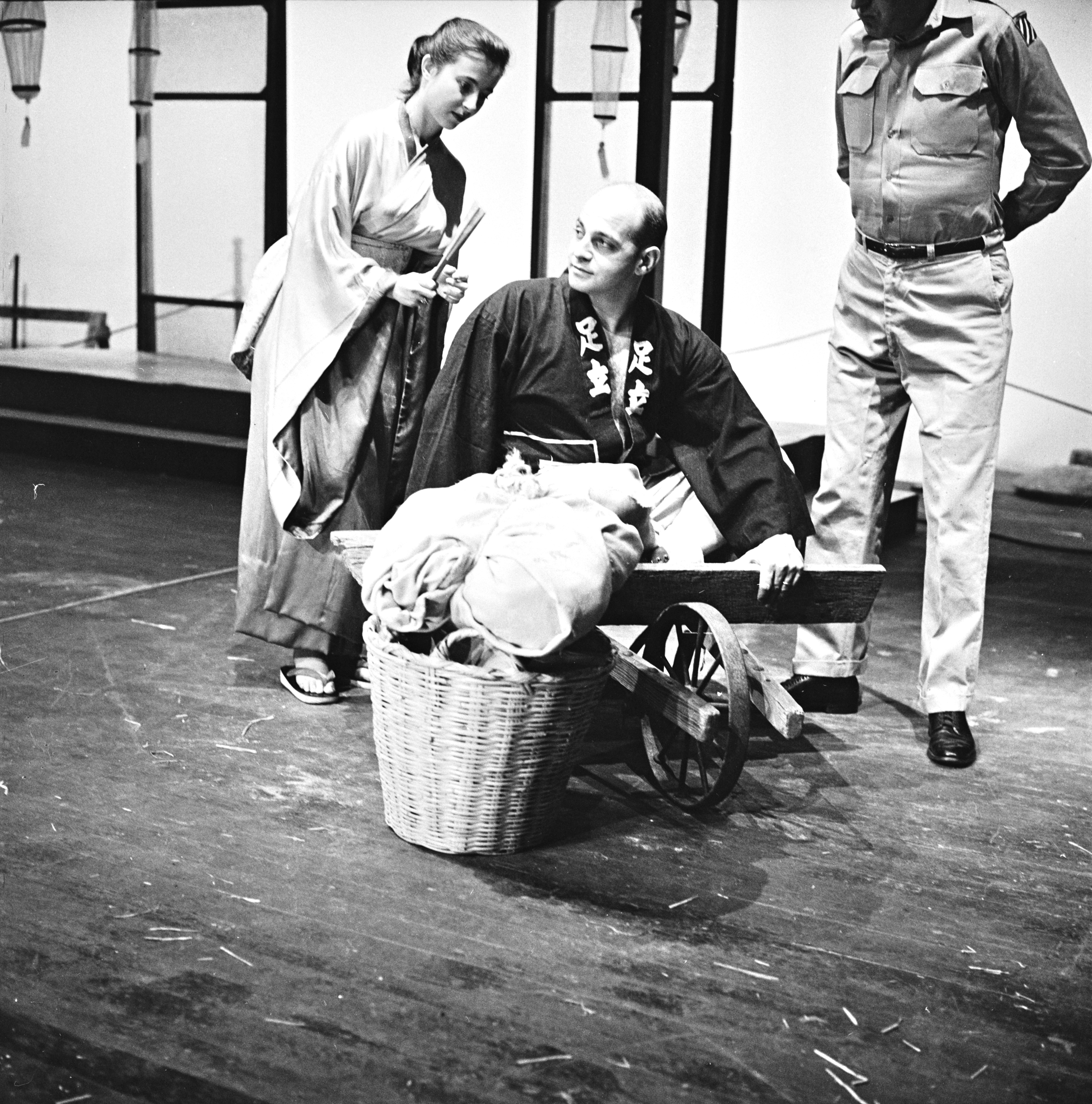 Ann Arbor Civic Theatre Cast Rehearse 'Teahouse of the August Moon,' October 1957 image