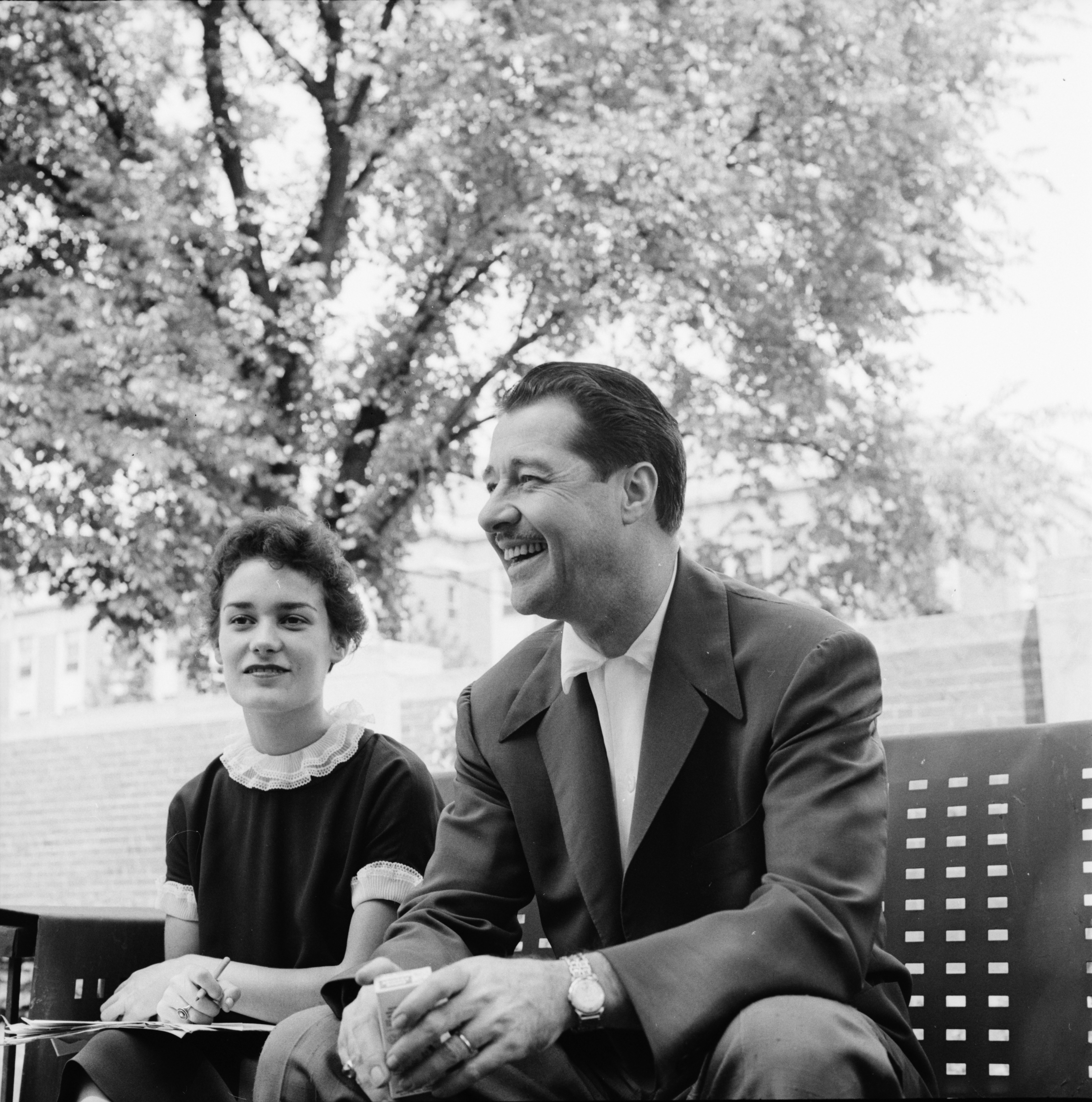 Actor Don Ameche in Ann Arbor for Drama Festival, June 1958 image