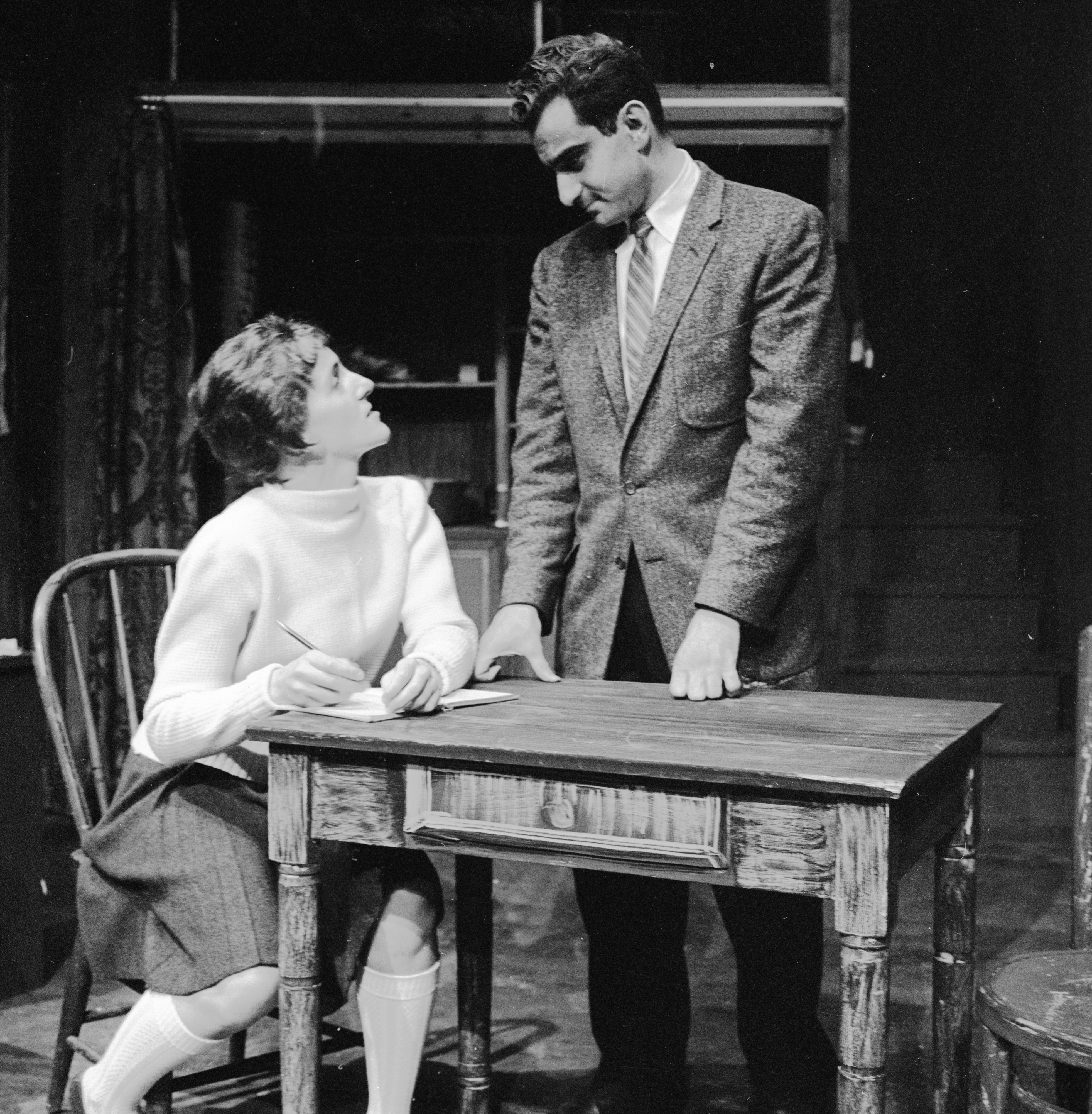 Ann Arbor Civic Theatre Cast Rehearses 'Diary Of Anne Frank,' September 1959 image