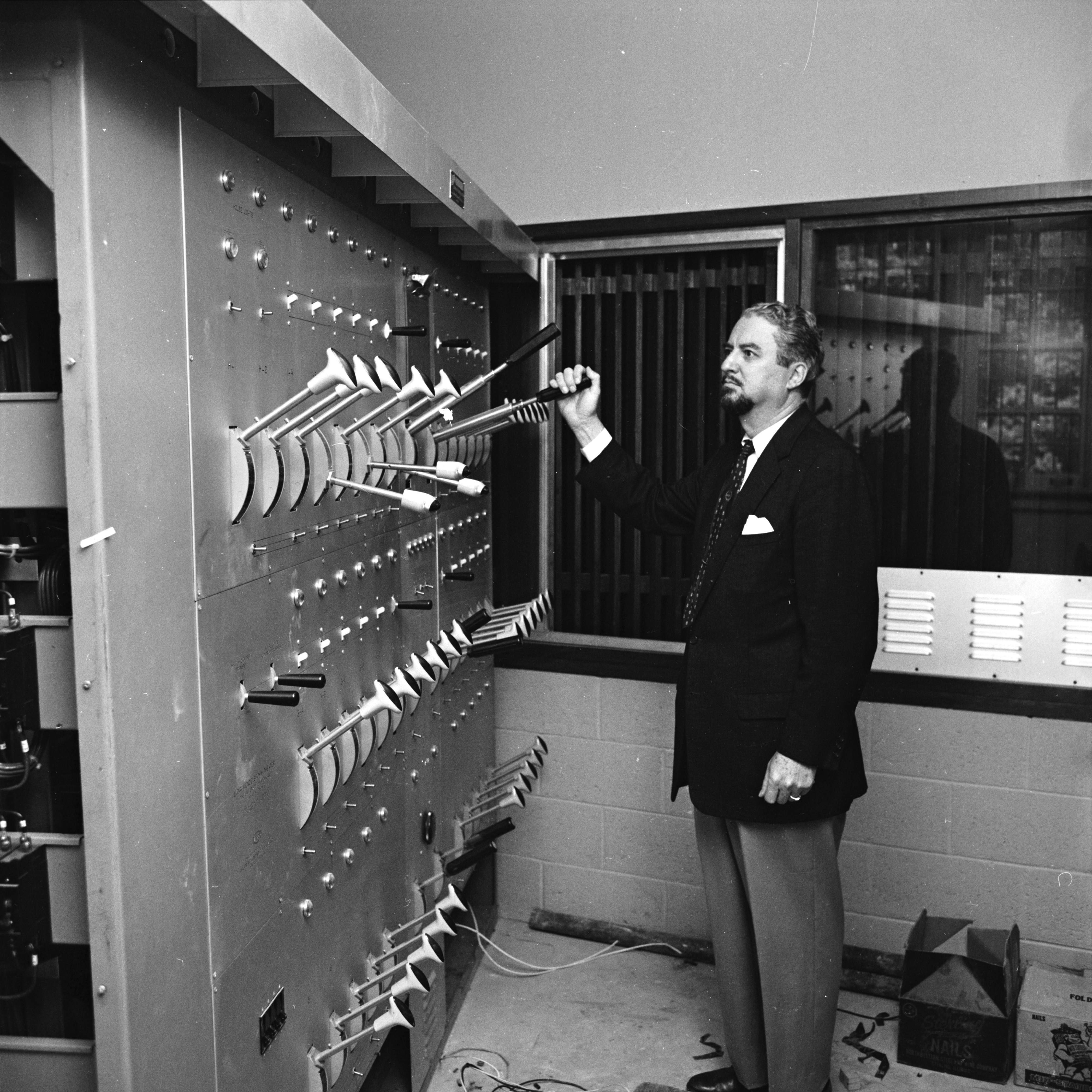 New Switchboard in Lydia Mendelssohn Theater, October 1962 image