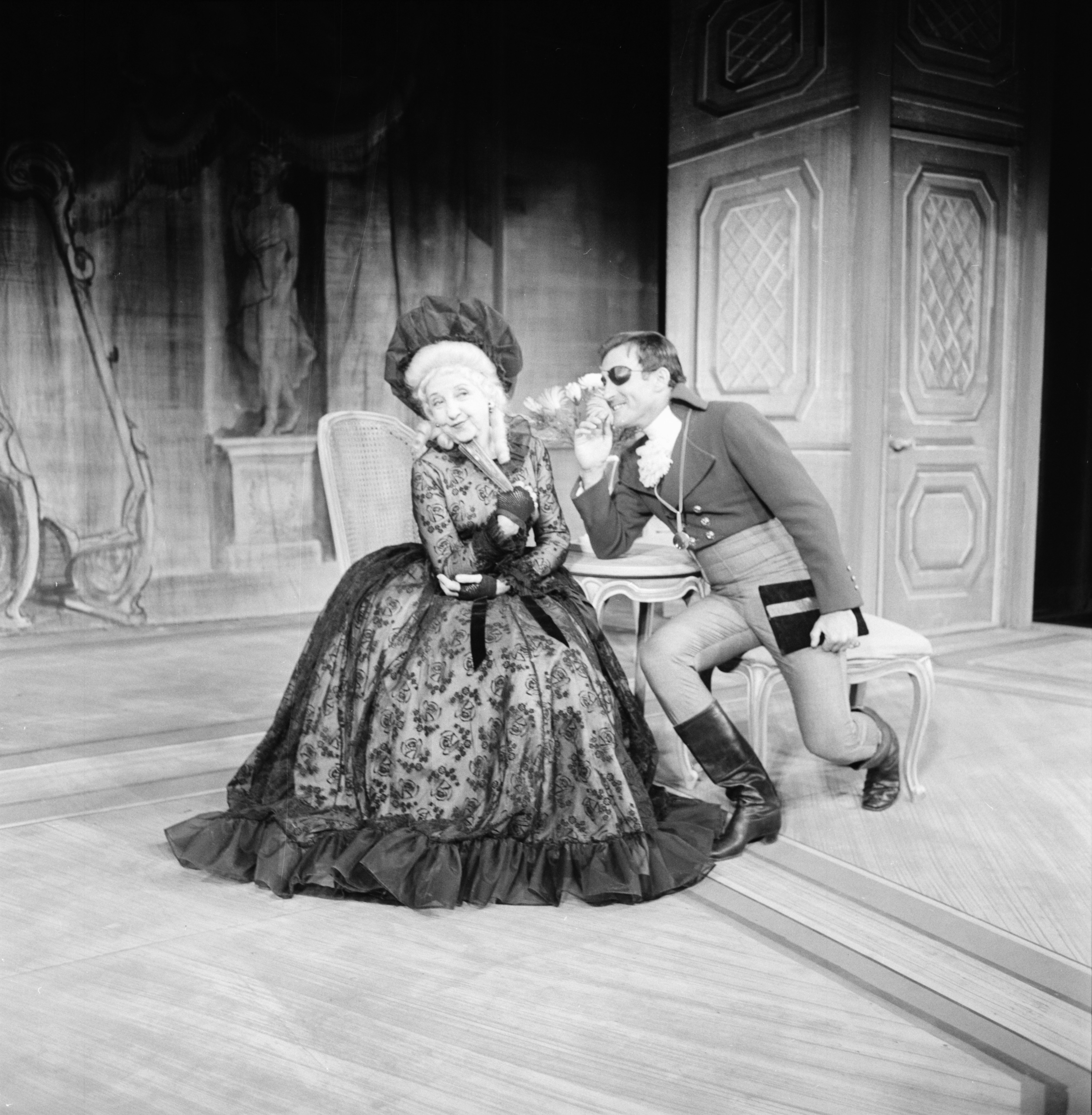 "Rehearsing ""School For Scandal"" at the Lydia Mendelssohn Theatre, October 1962 image"