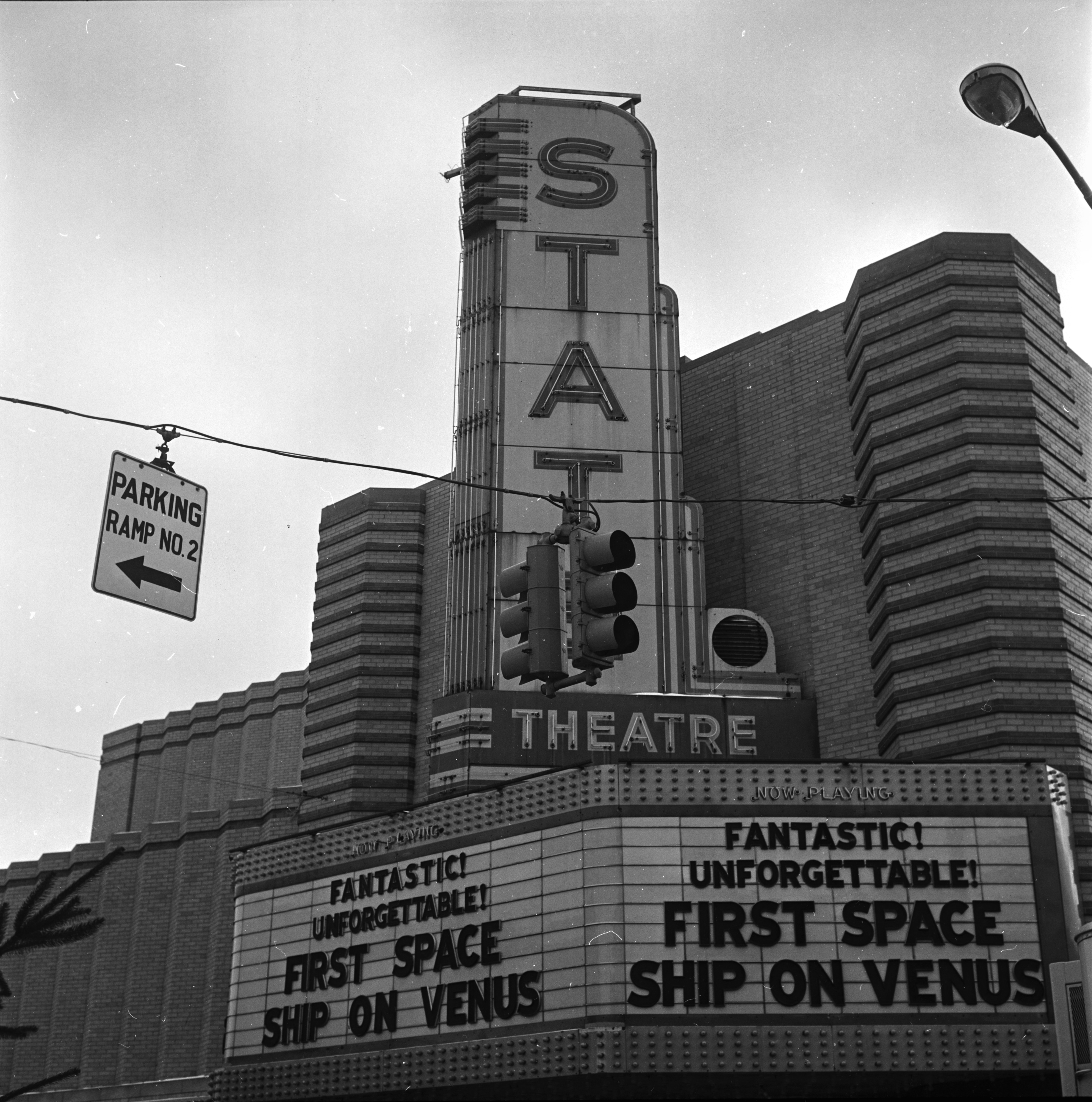 State Theater sign, December 1962 image