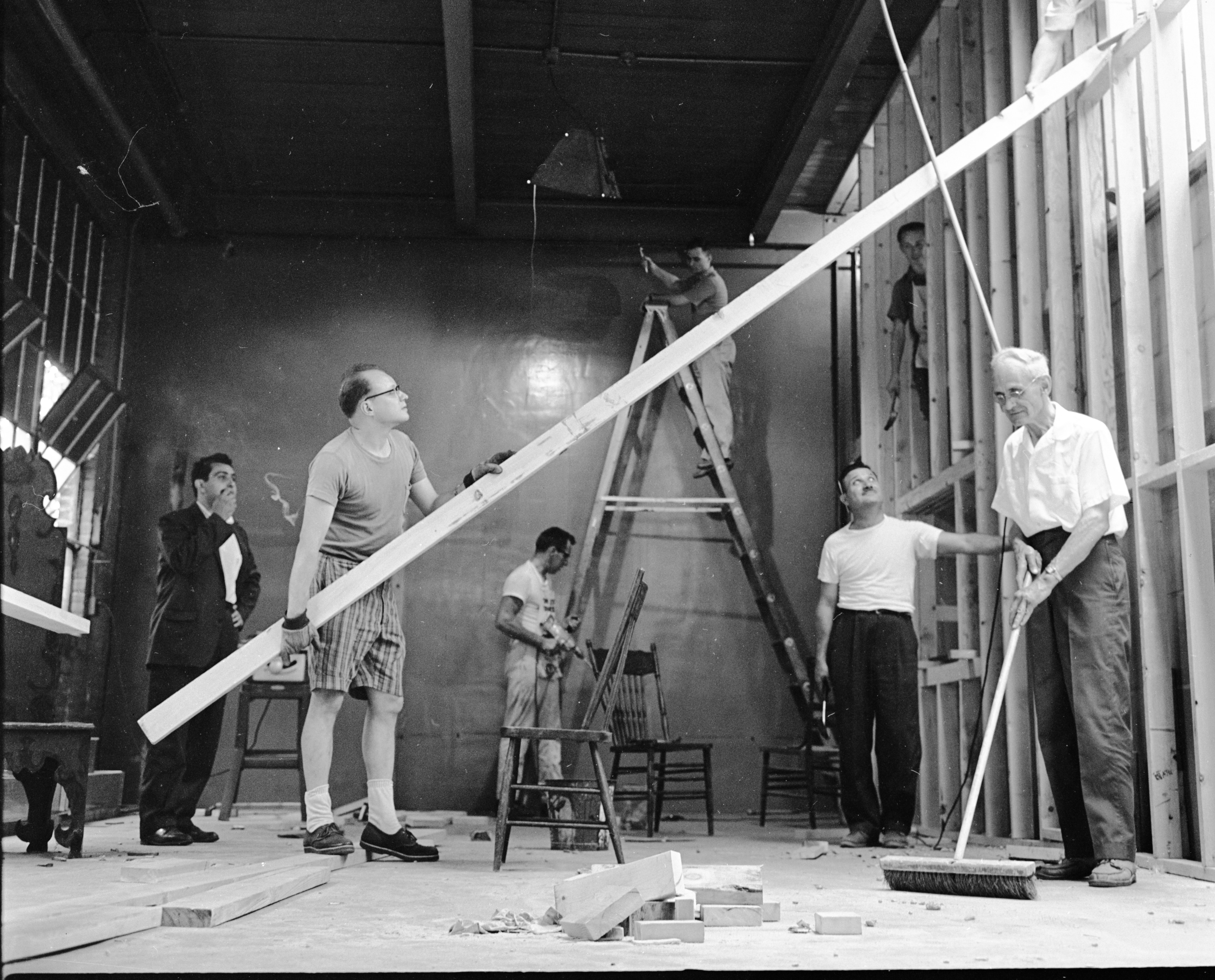 Ann Arbor Civic Theatre Members Renovate Old Waterworks Building for New AACT Home, July 1963 image