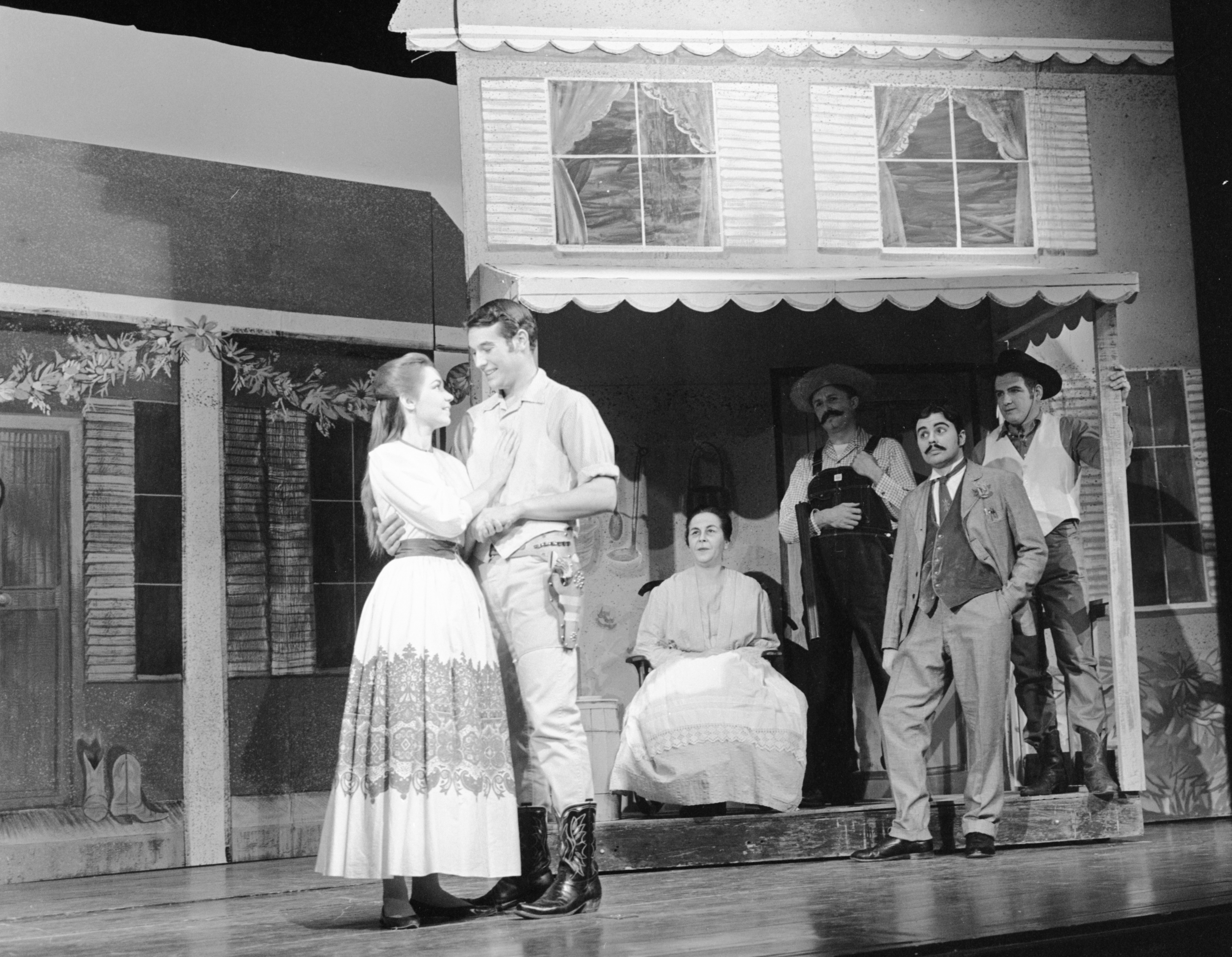 Ann Arbor Civic Theatre Cast Rehearsing a Scene from 'Oklahoma!'  December 1963 image