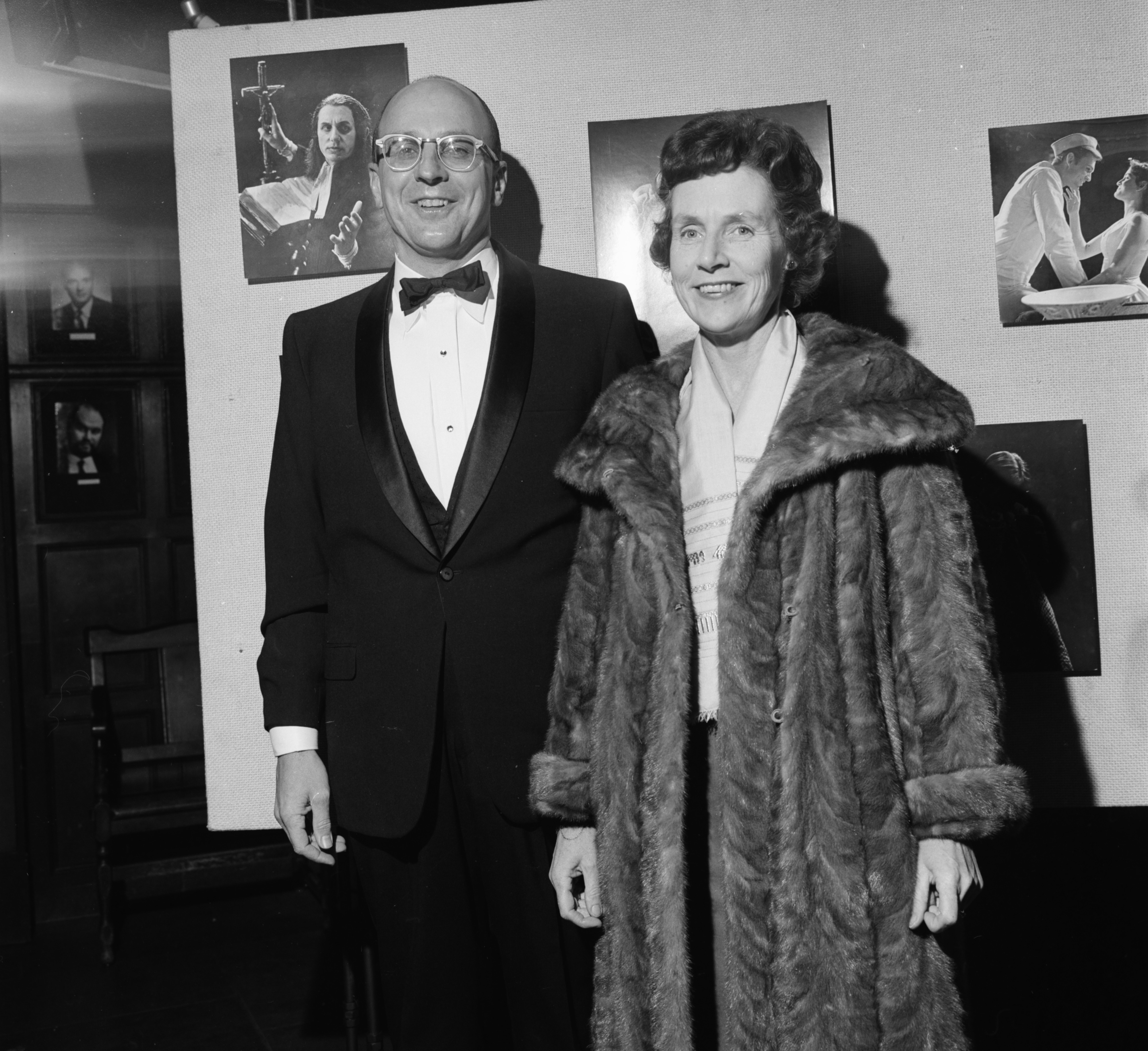 At the University's Professional Theatre (PTP) gala premiere, January 1966 image