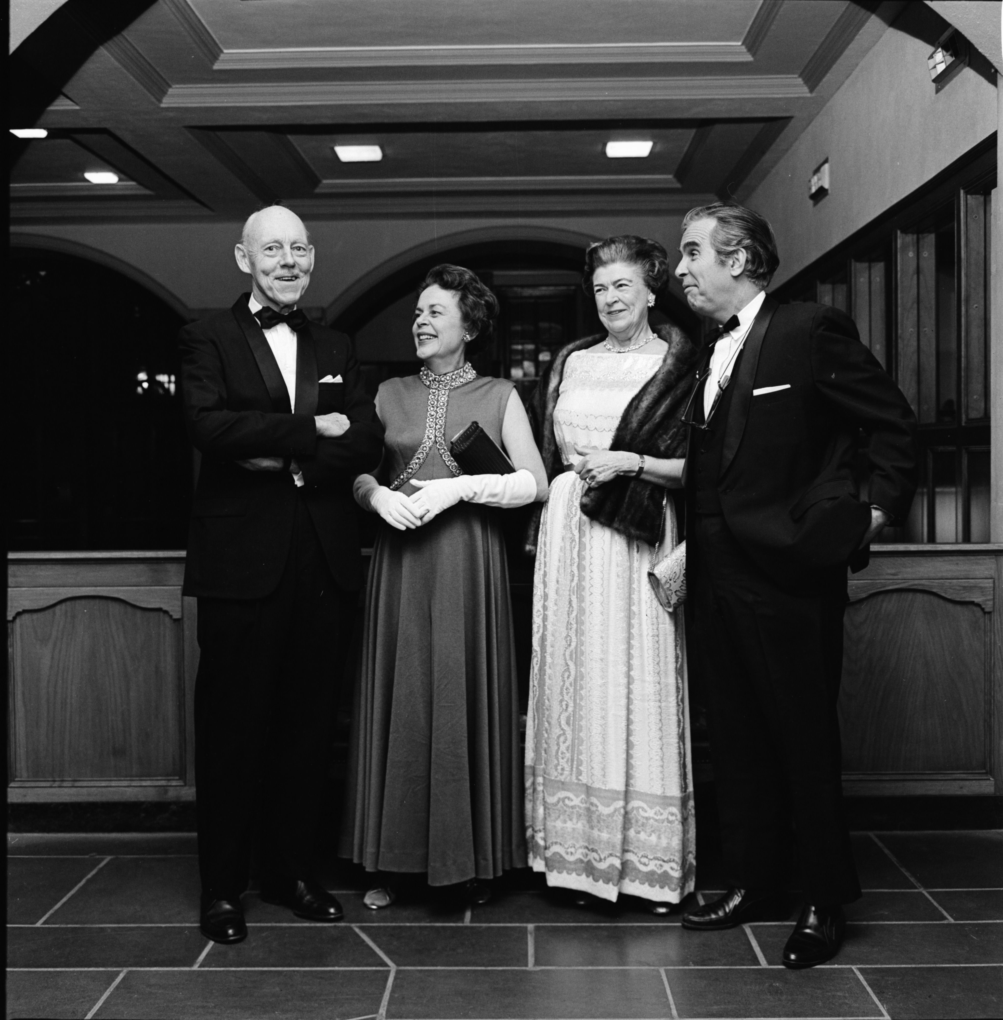 "L. Hart and Phyllis B. Wright and Robert C and Esther K. Angell, Opening Night of ""Harvey,"" February 1970 image"
