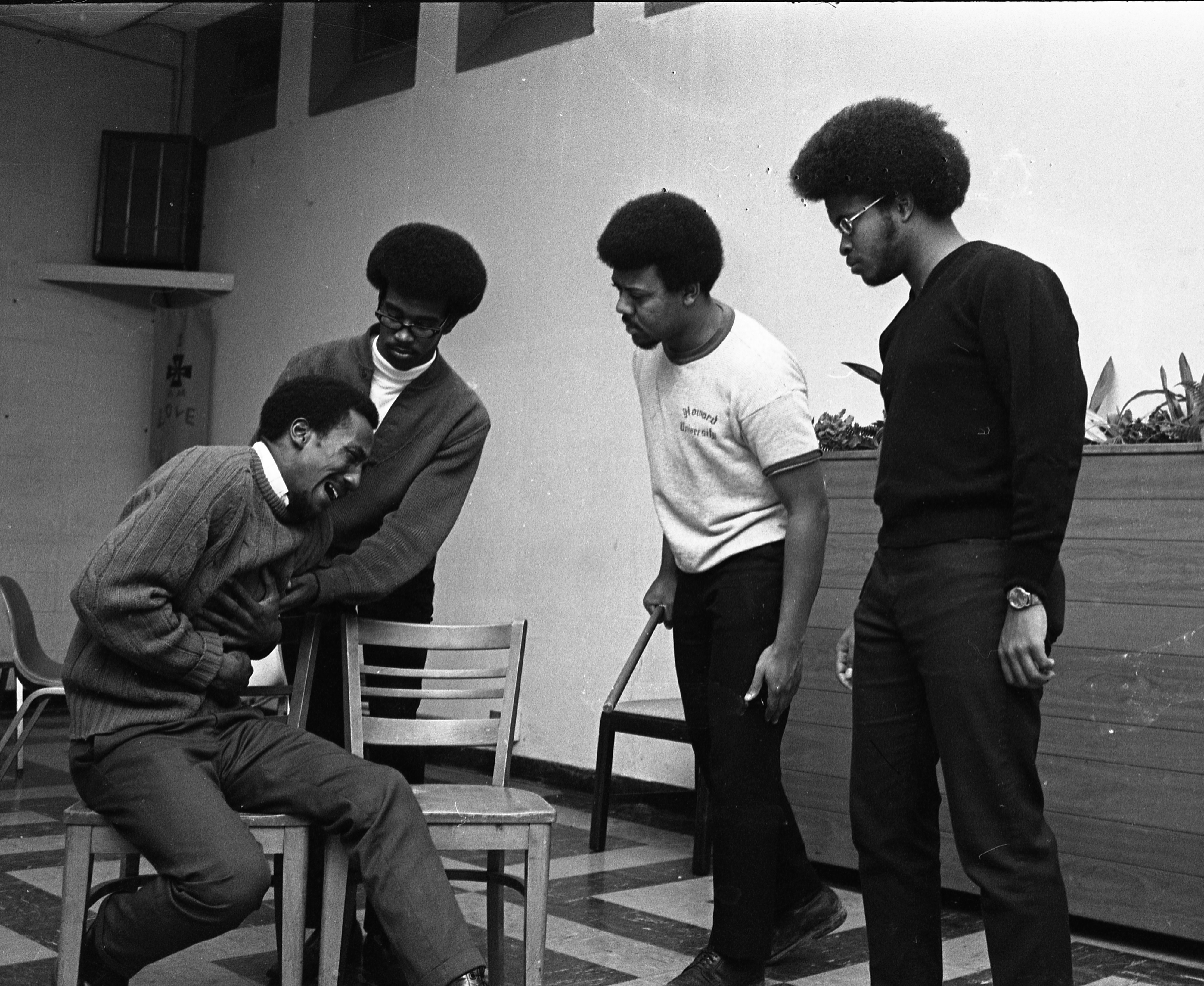 Play Rehearsal By The Ann Arbor Black Theatre, March 1970 image
