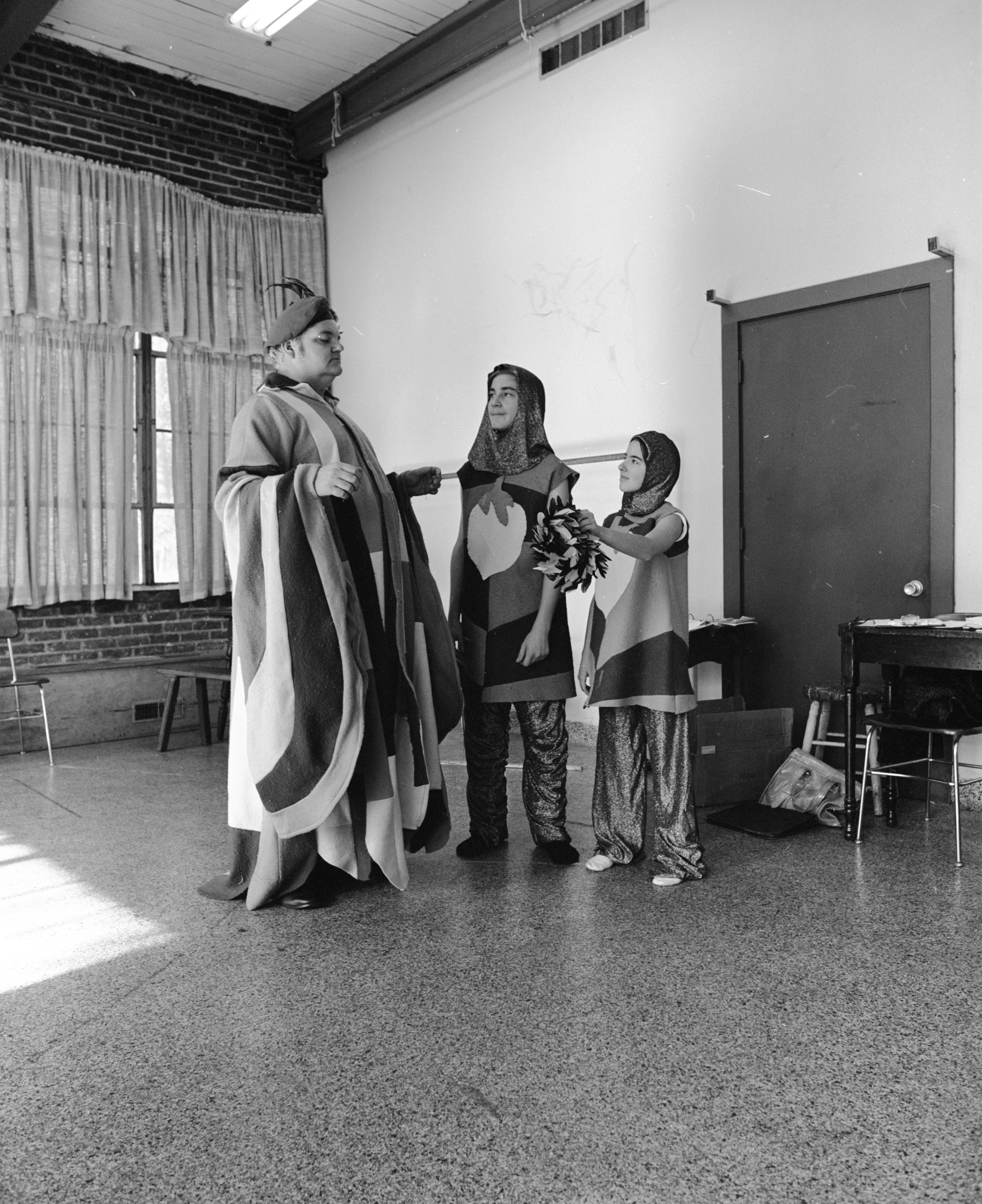 Ann Arbor Junior Theatre and Ann Arbor Civic Theatre Members Rehearse 'The Thwarting of Baron Bolligrew,' November 1971 image