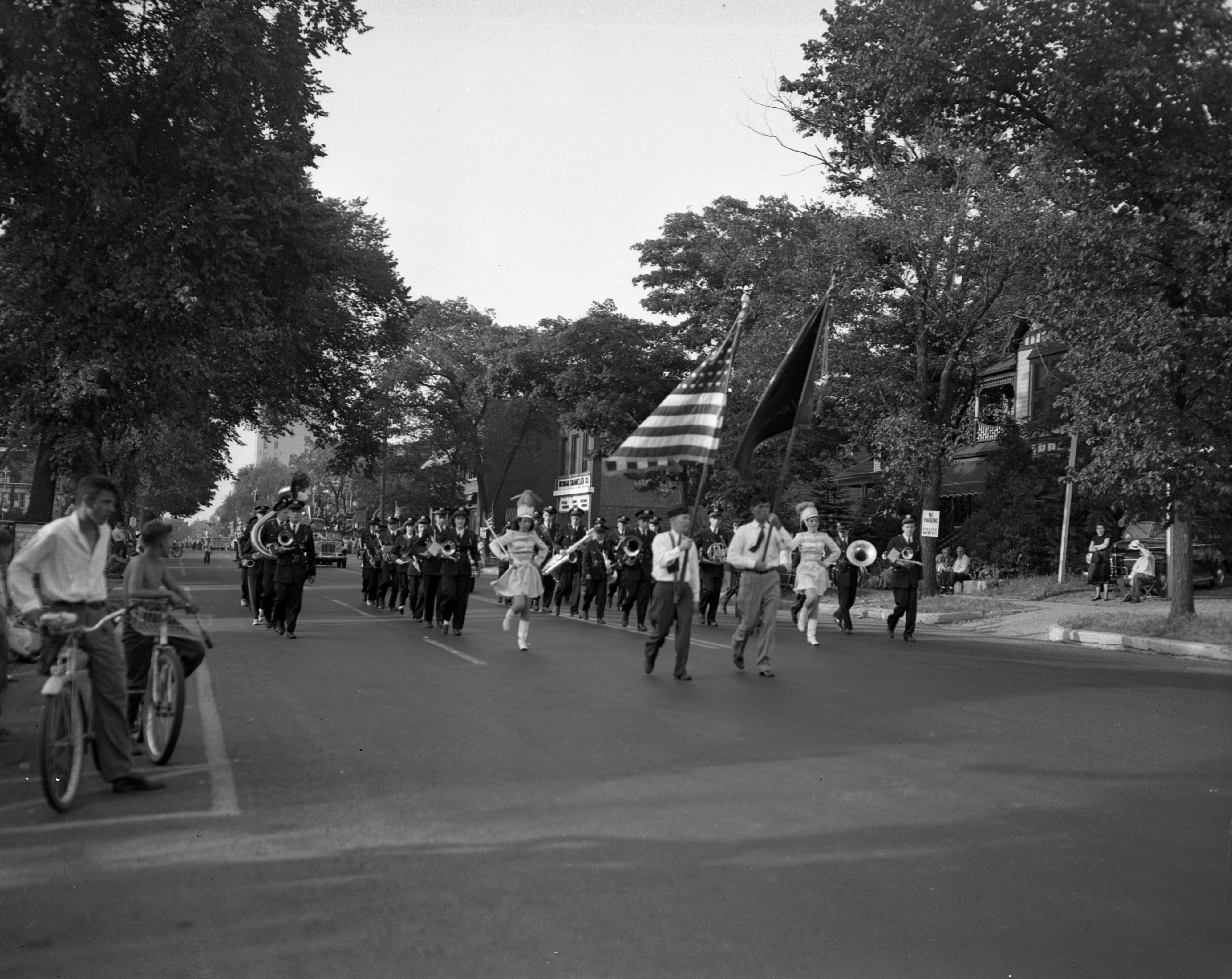 Milan High School Band A Big Part of the Civic Organization Day Freedom Train Parade, August 1948 image