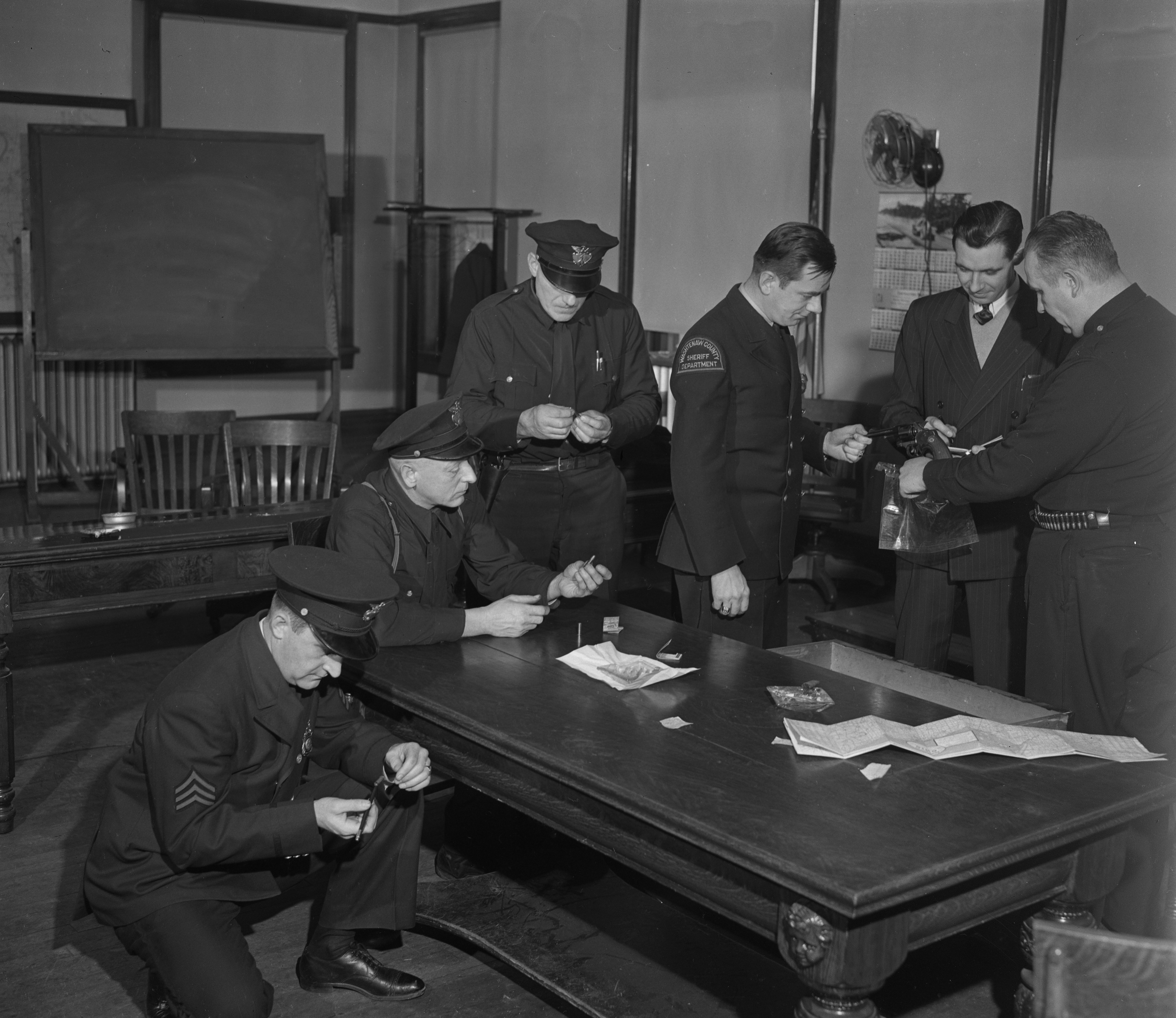 FBI School for Local Law Enforcement Officers at Ann Arbor City Hall, February 1947 image