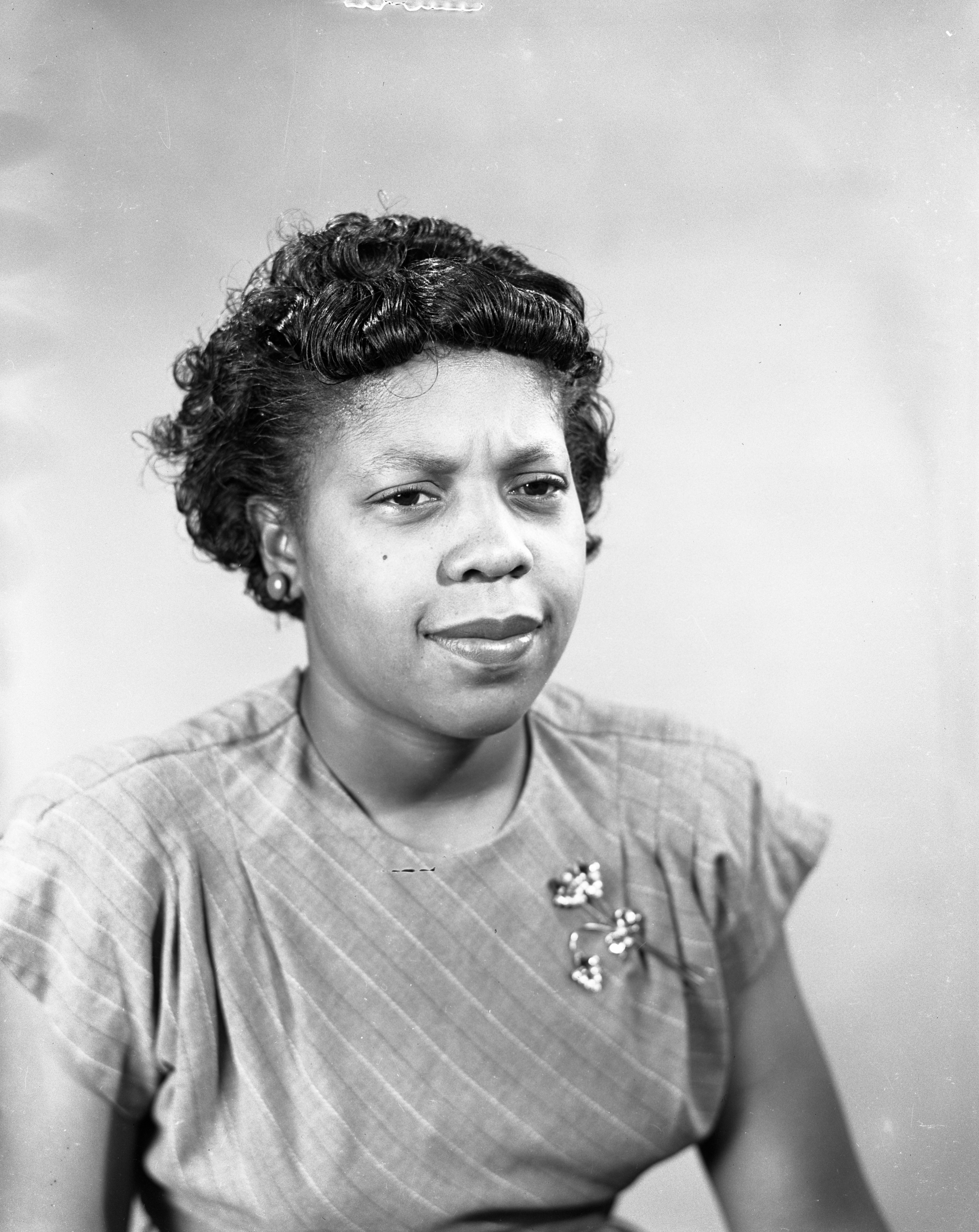 Progressive Party Candidate for Register of Deeds, Mrs. Mae Ava Phillips, September 1948 image
