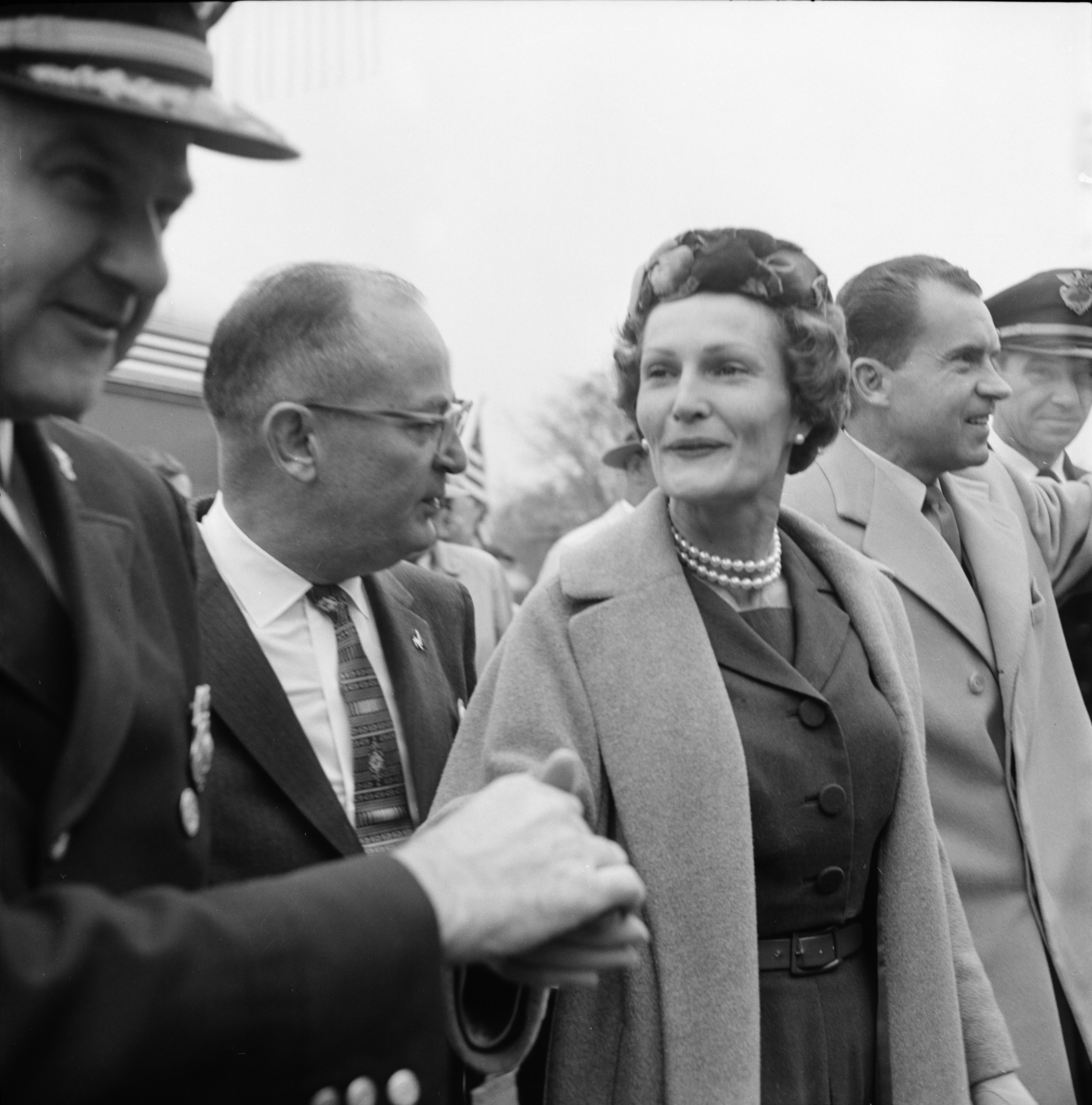 Pat Nixon during Ann Arbor visit, October 27, 1960 image