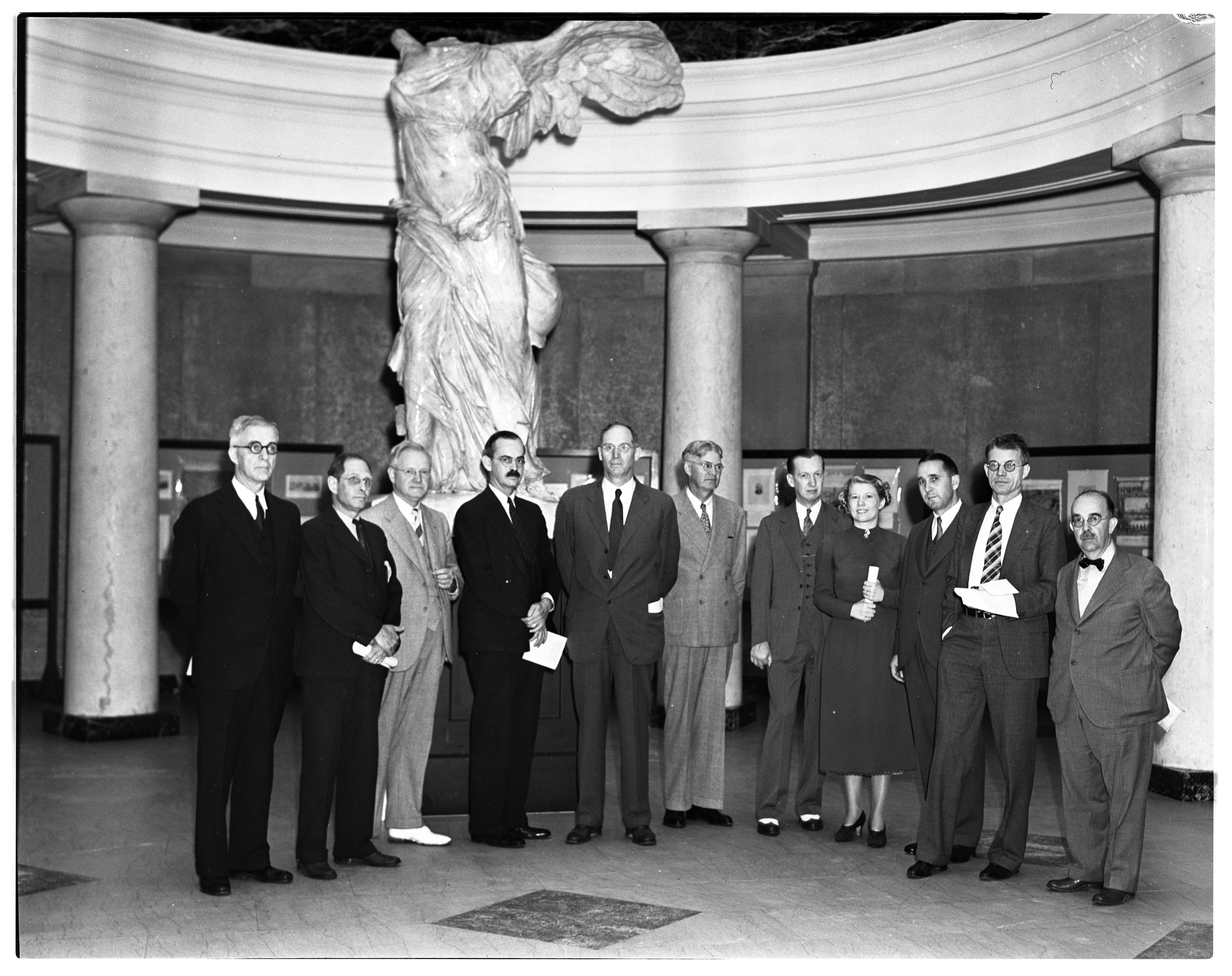 Committee Stands Behind Success of University's 100th Celebration, June 1937 image