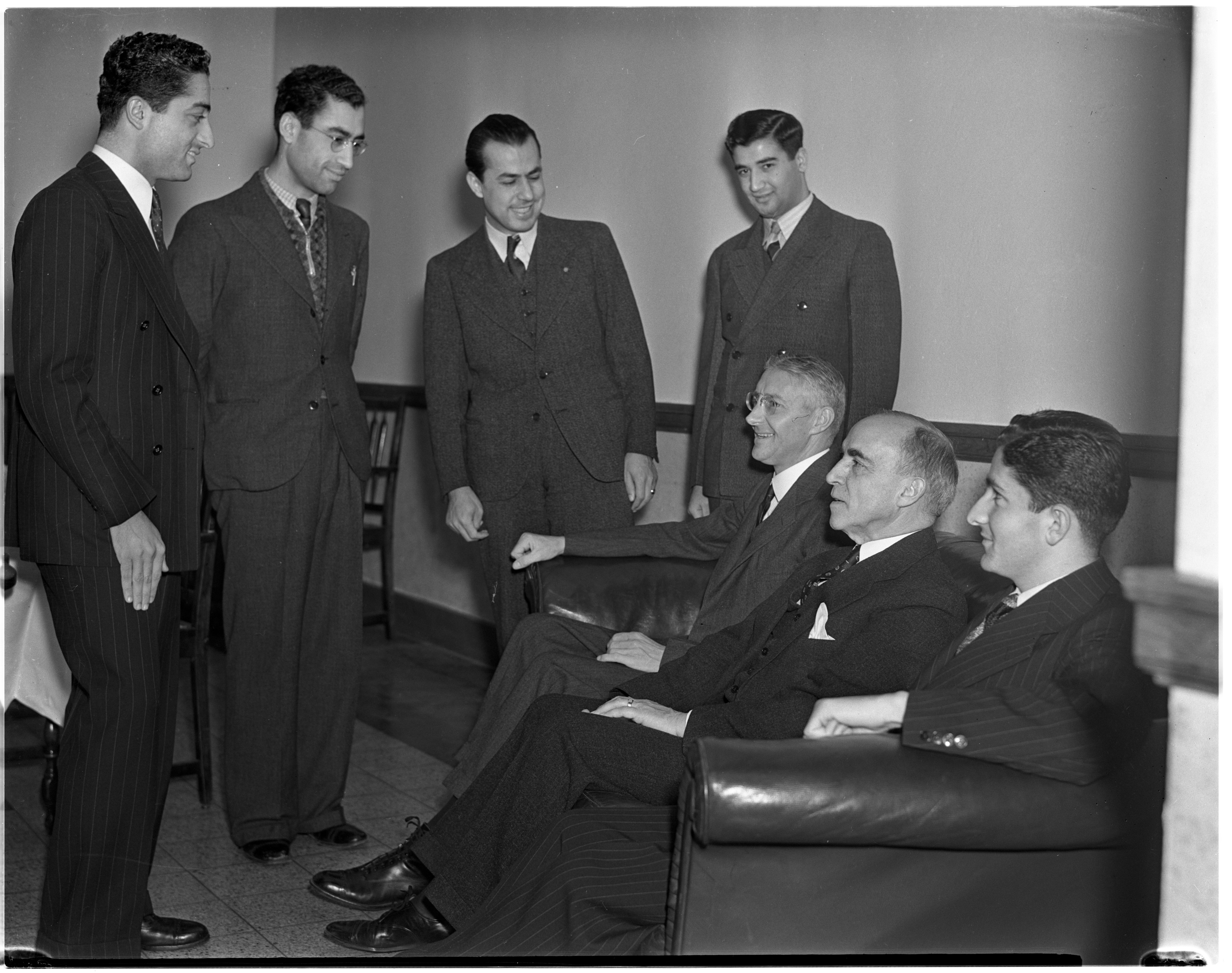 Dr. Bayard Dodge Meets With Former Students Of The American University Of Beirut, January 1938 image