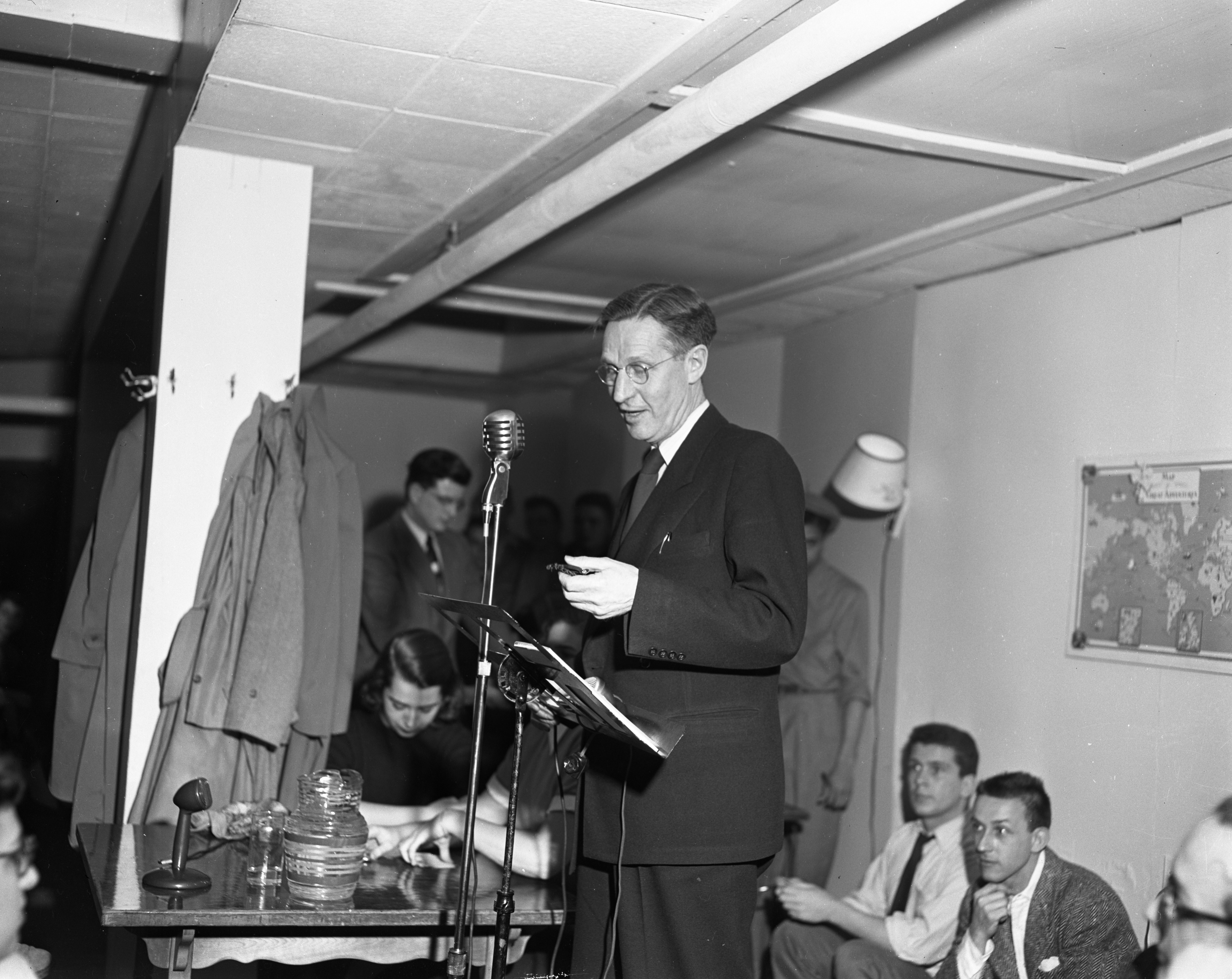 Dr. R. J. Phillips at debate on Communism versus Capitalism, April 27, 1950 image