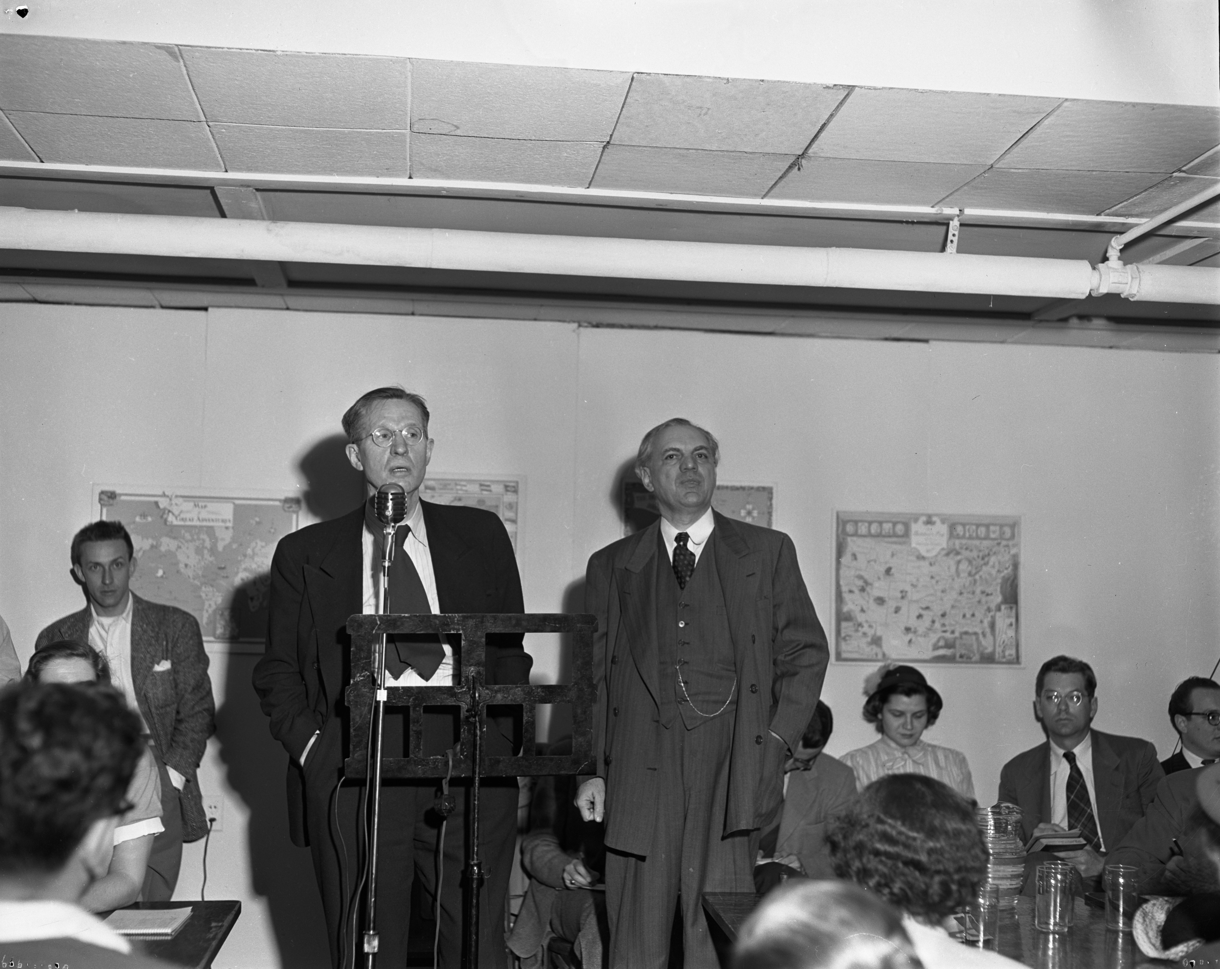 Professor Preston W. Slosson and Dr. R. J. Phillips debate Communism versus Capitalism, April 27, 1950 image