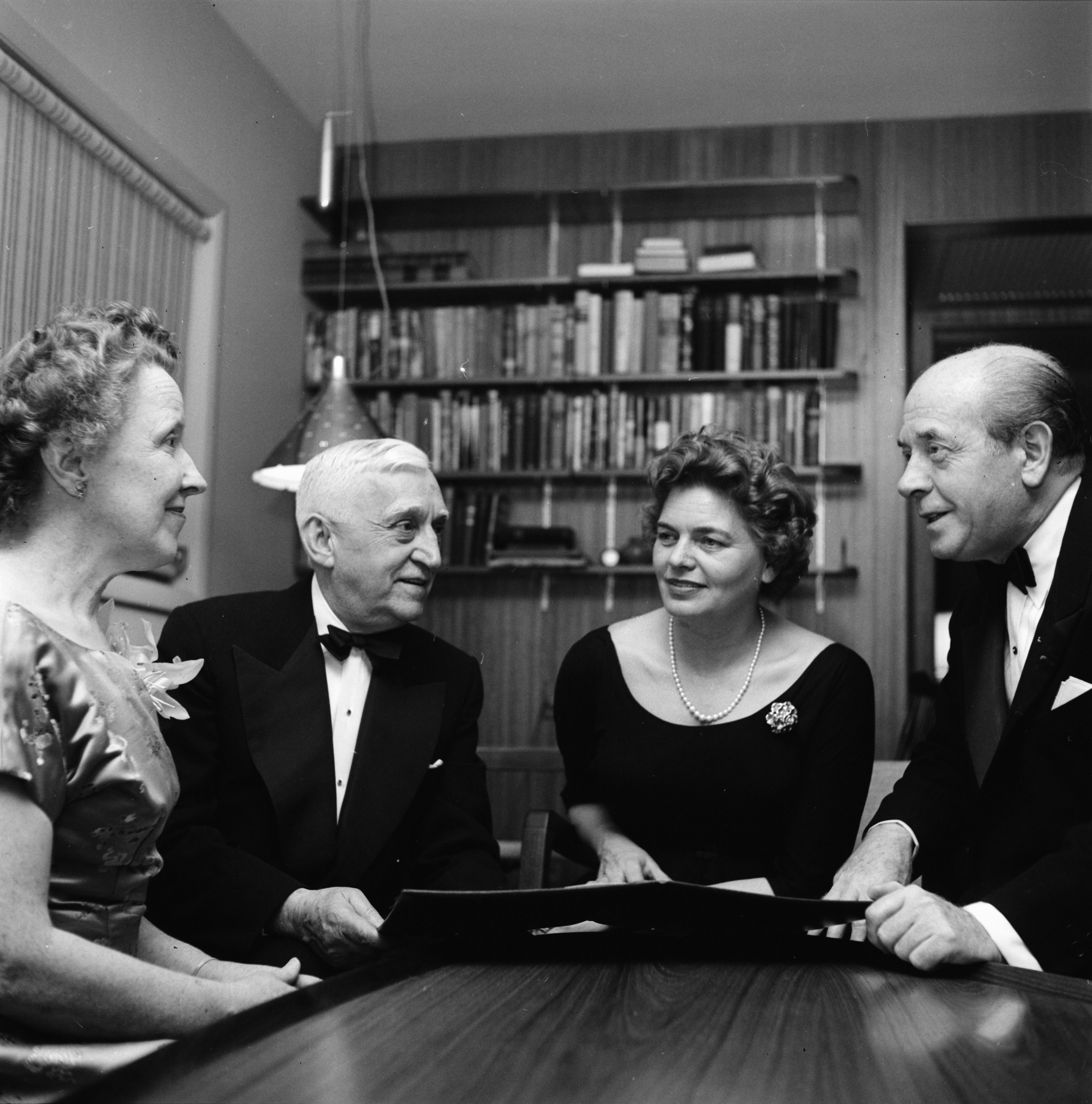 Charles and Alva Sink entertain Eugene Ormandy and wife Margaret, May 1957 image
