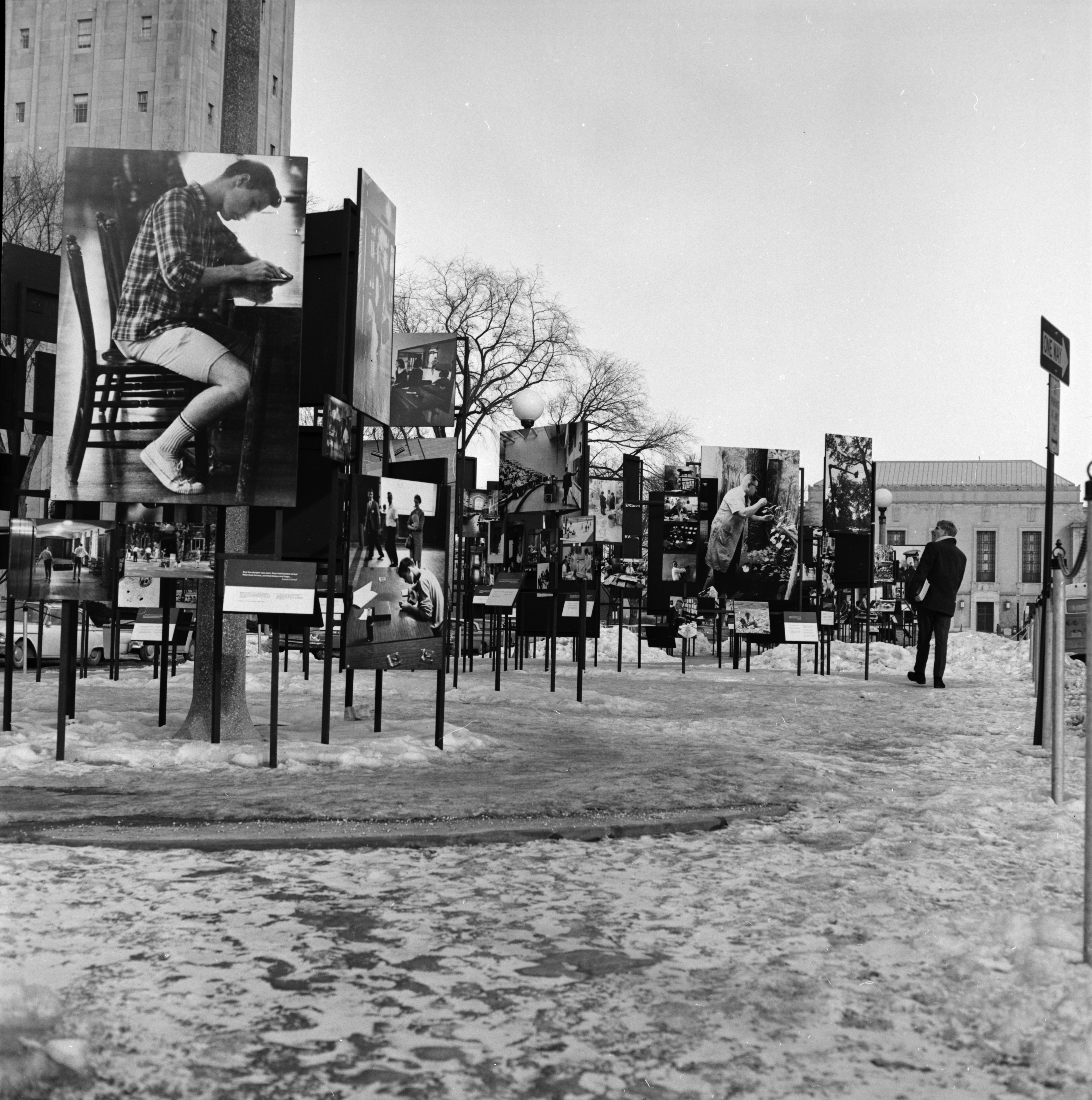 Photography Display at Ingalls Street Mall, February 1967 image