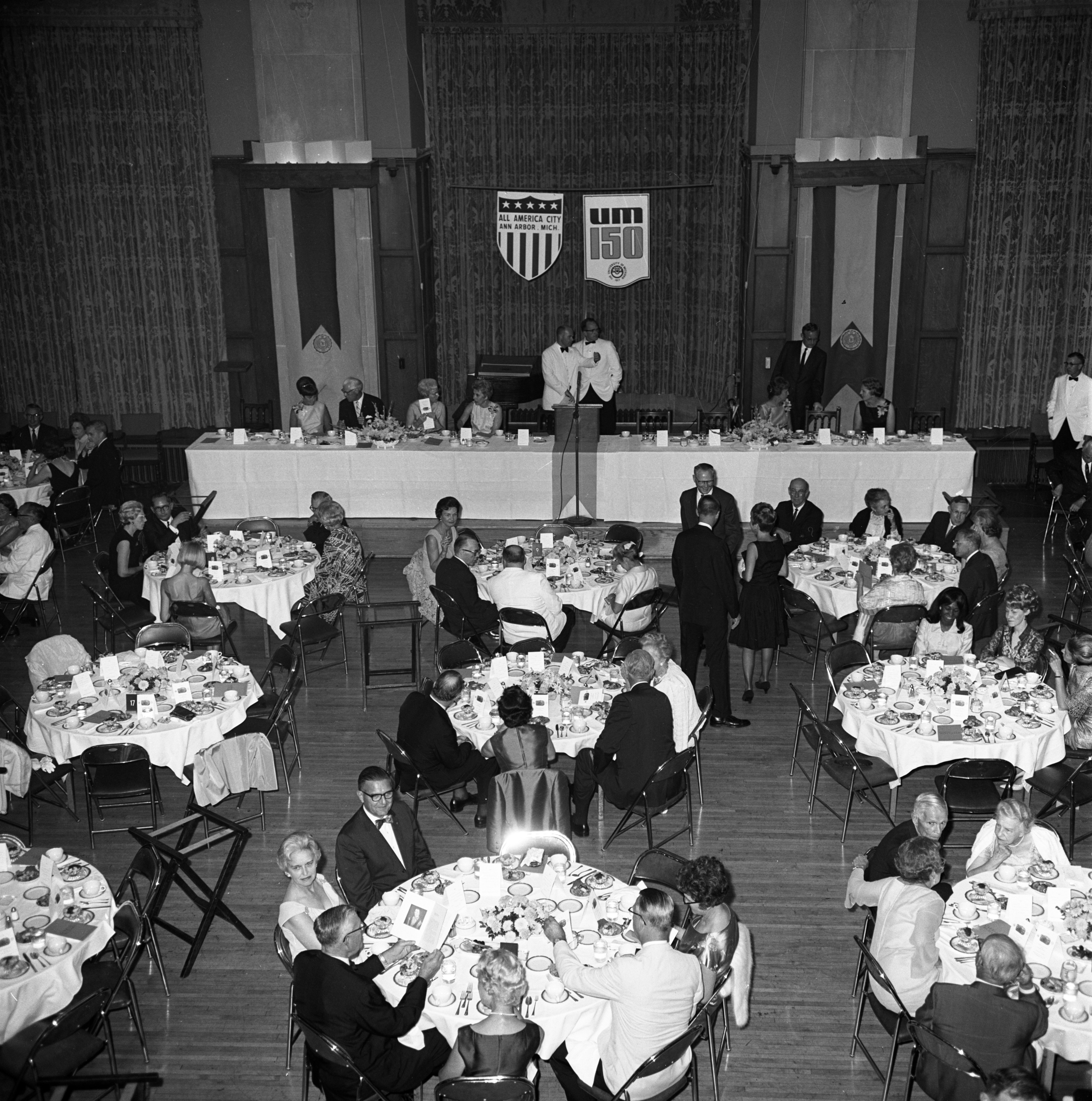 The U-M Sesquicentennial Birthday Gala At The Union Ballroom, August 28, 1967 image