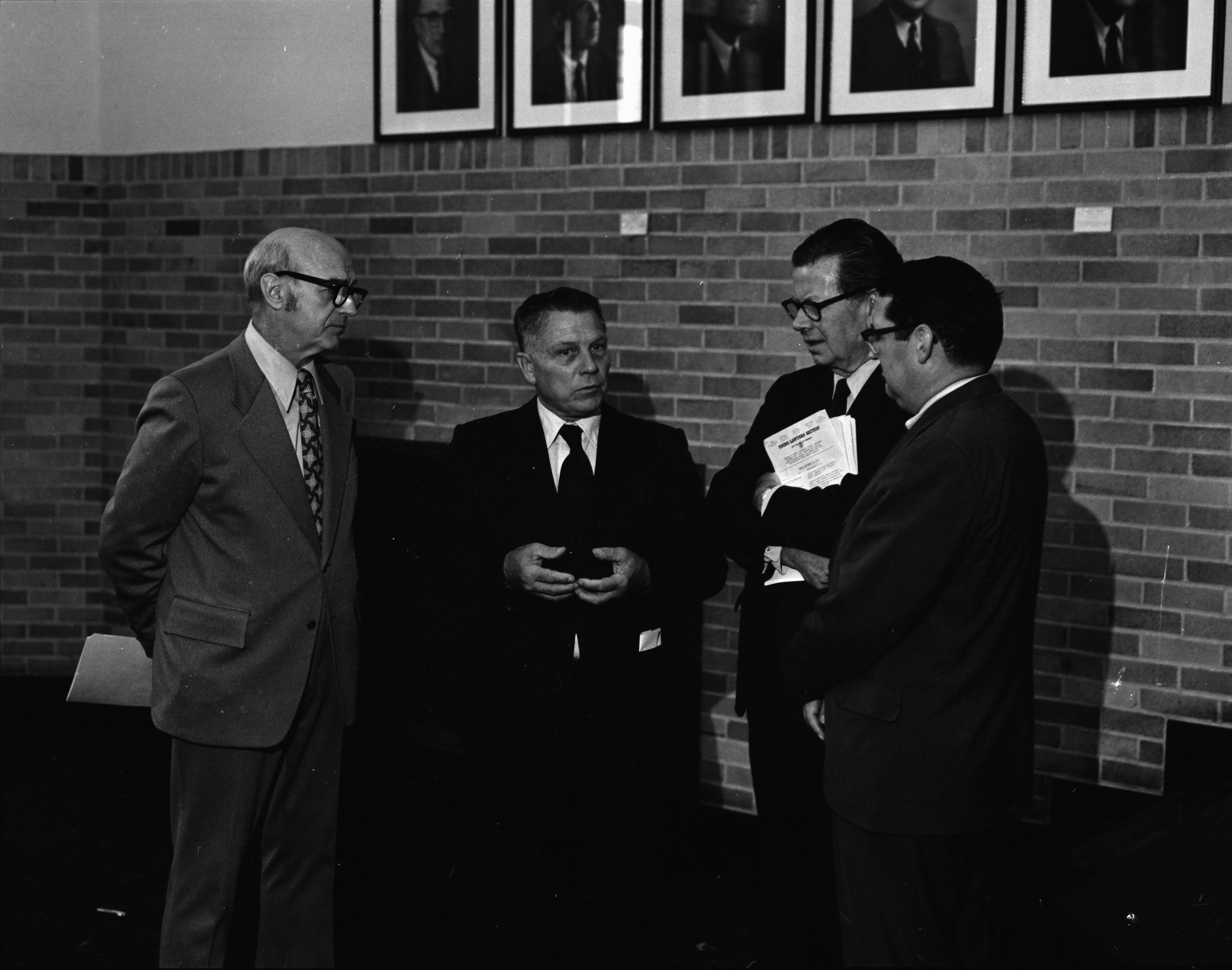 Jimmy Hoffa and others at the University of Michigan's Prisoner's Rights Conference, September 1972 image